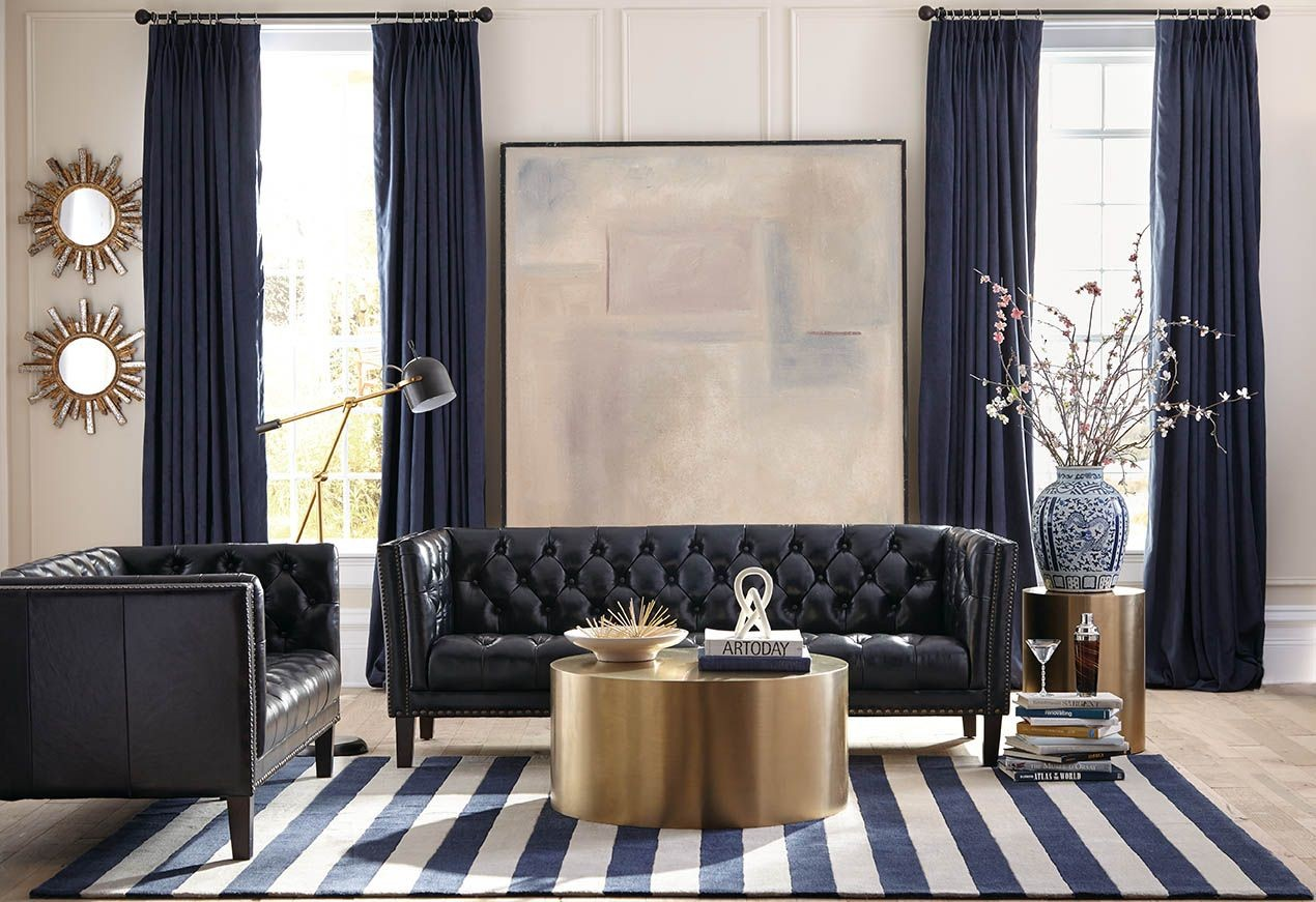 montego regal blue leather living room set wh 1616 30 9050 lazzaro
