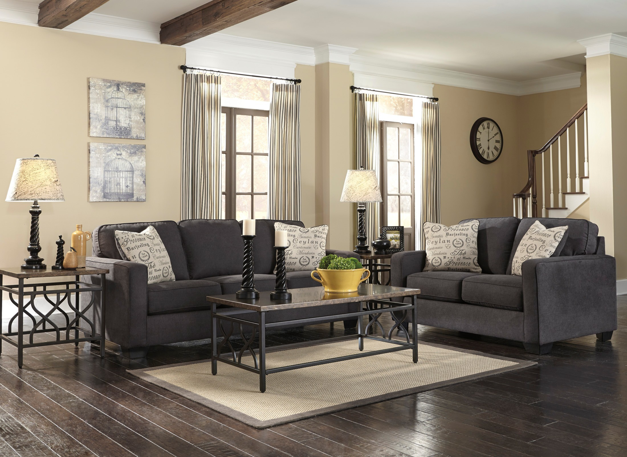 Pc Living Room Set Alenya Charcoal Living Room Set From Ashley 16601 38 35