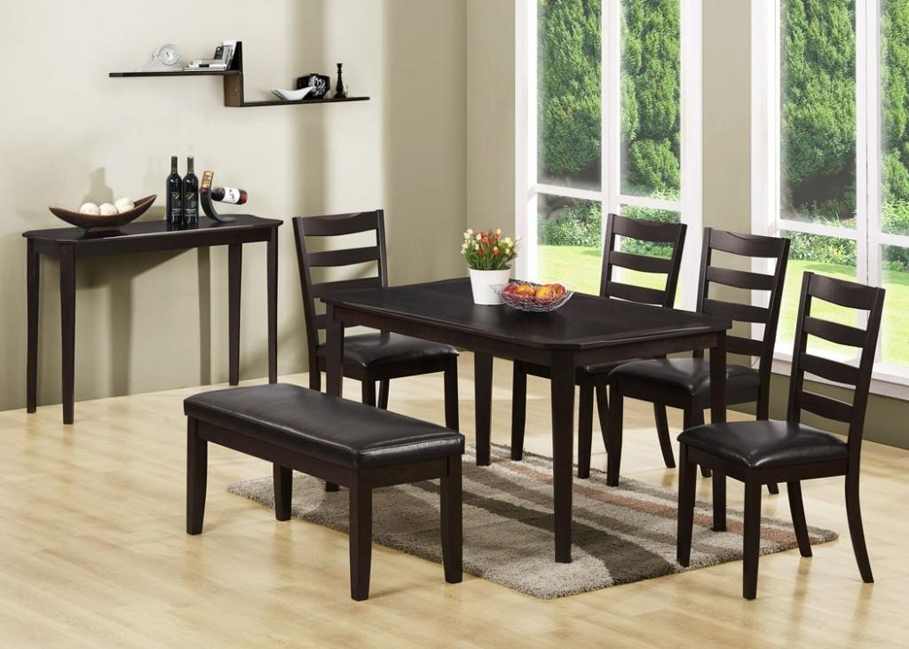 1691 cappuccino cherry dining room set 1691 monarch for Cherry dining room set