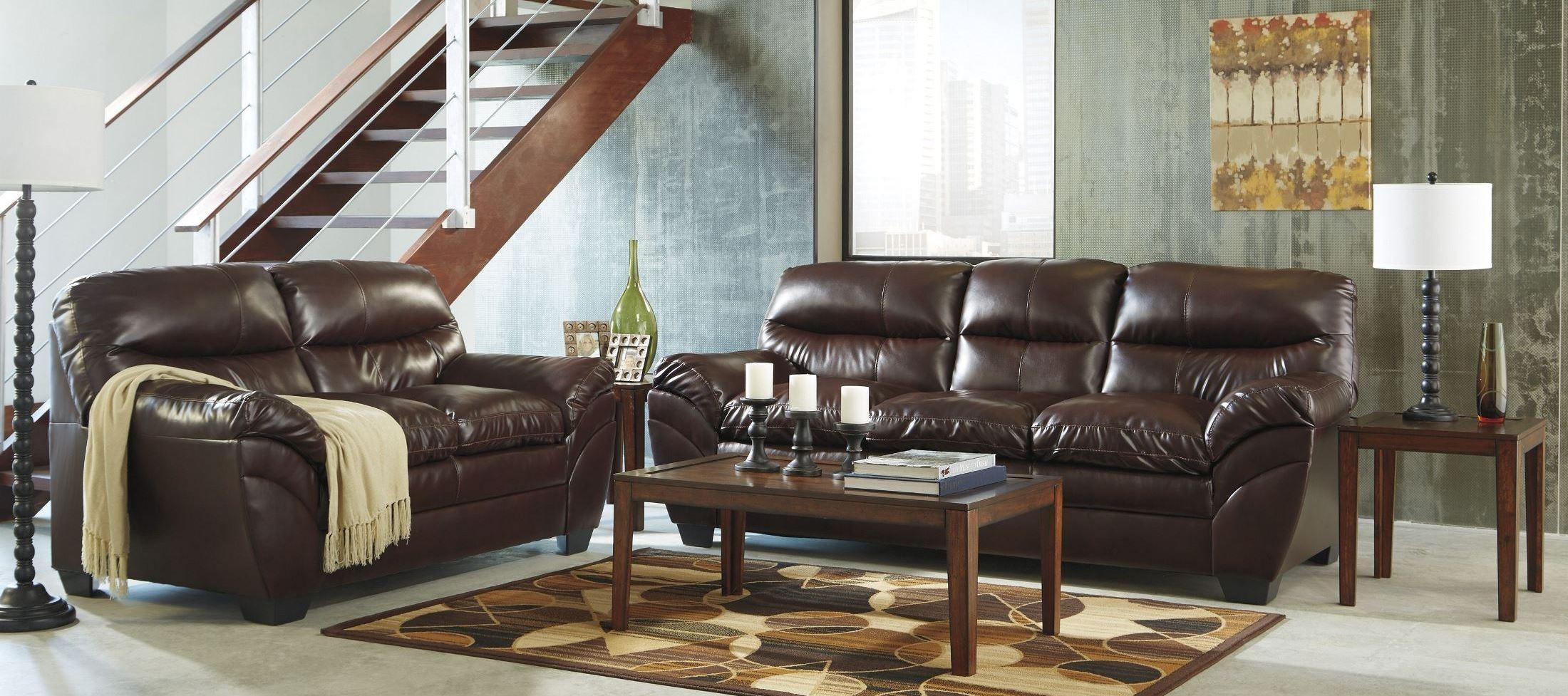 Tassler Durablend Mahogany Living Room Set From Ashley
