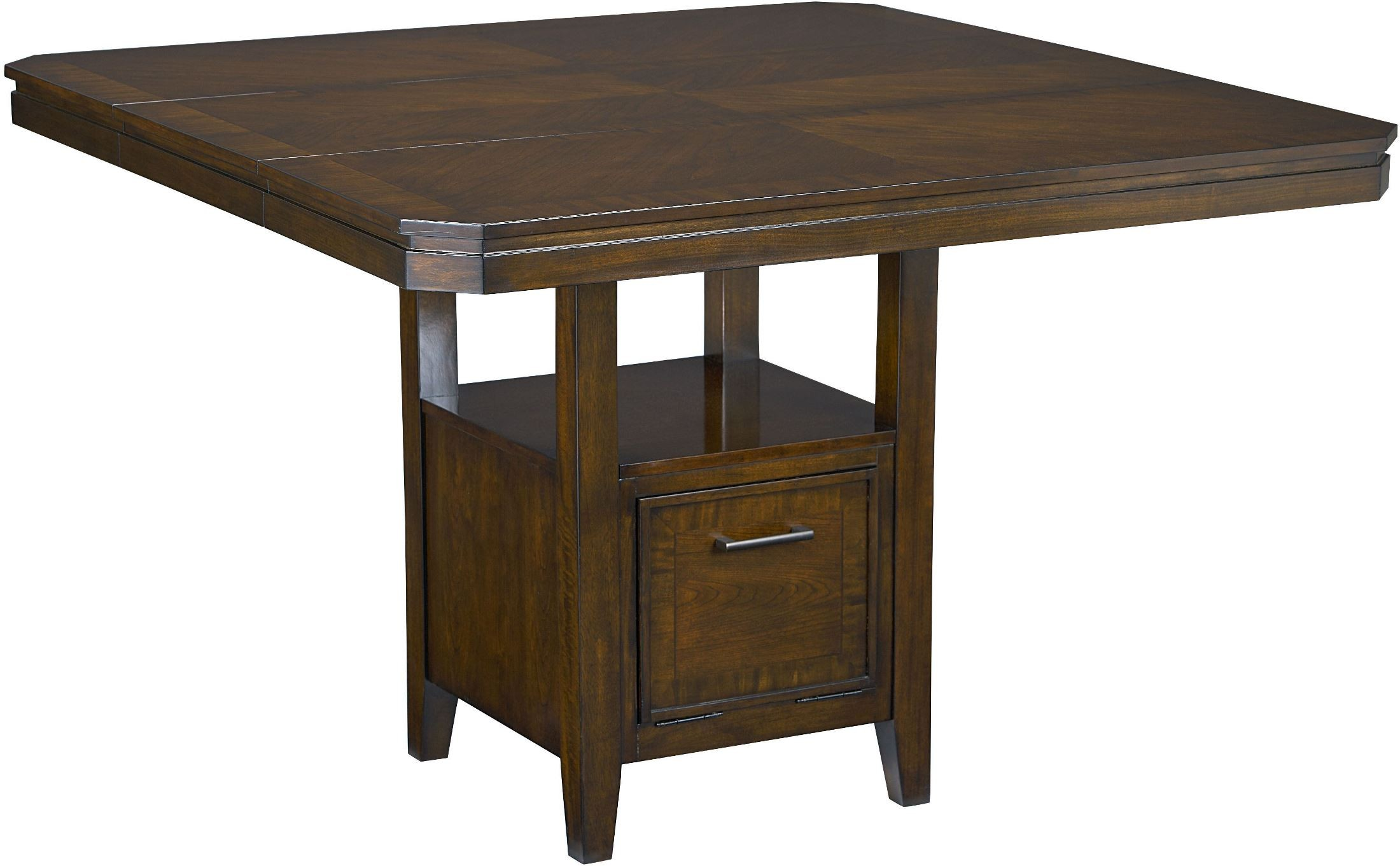 Avion walnut counter height dining table 17836 standard for Standard dining table