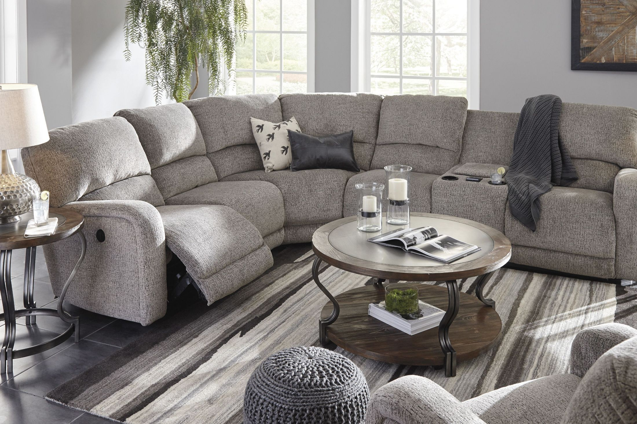 Pittsfield Fossil Laf Power Reclining Sectional 1790158 90 Ashley