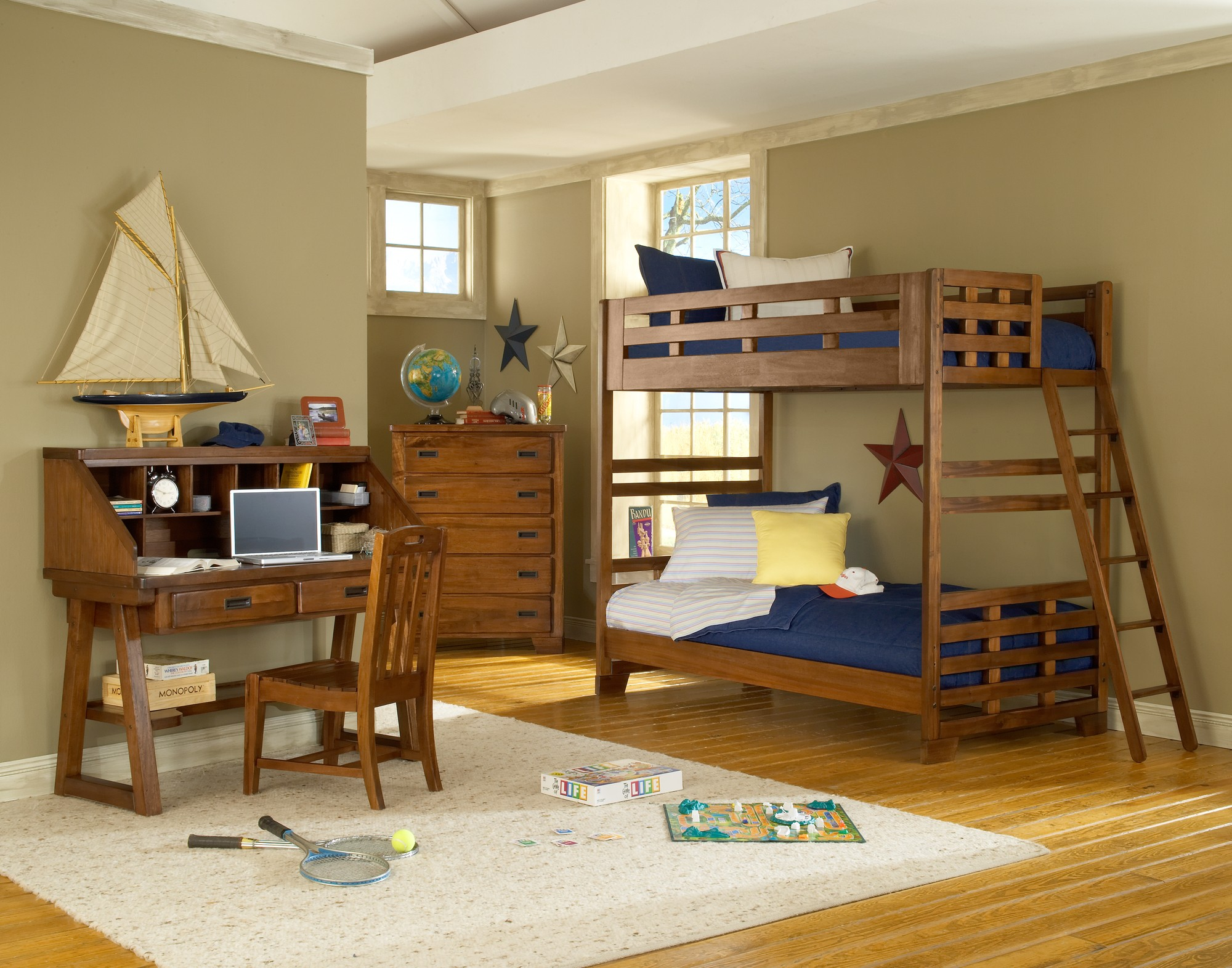 These 6 Pieces Of Colorful Furniture Are Absolute Must Haves: Heartland Bunk Bedroom Set From American Woodcrafters