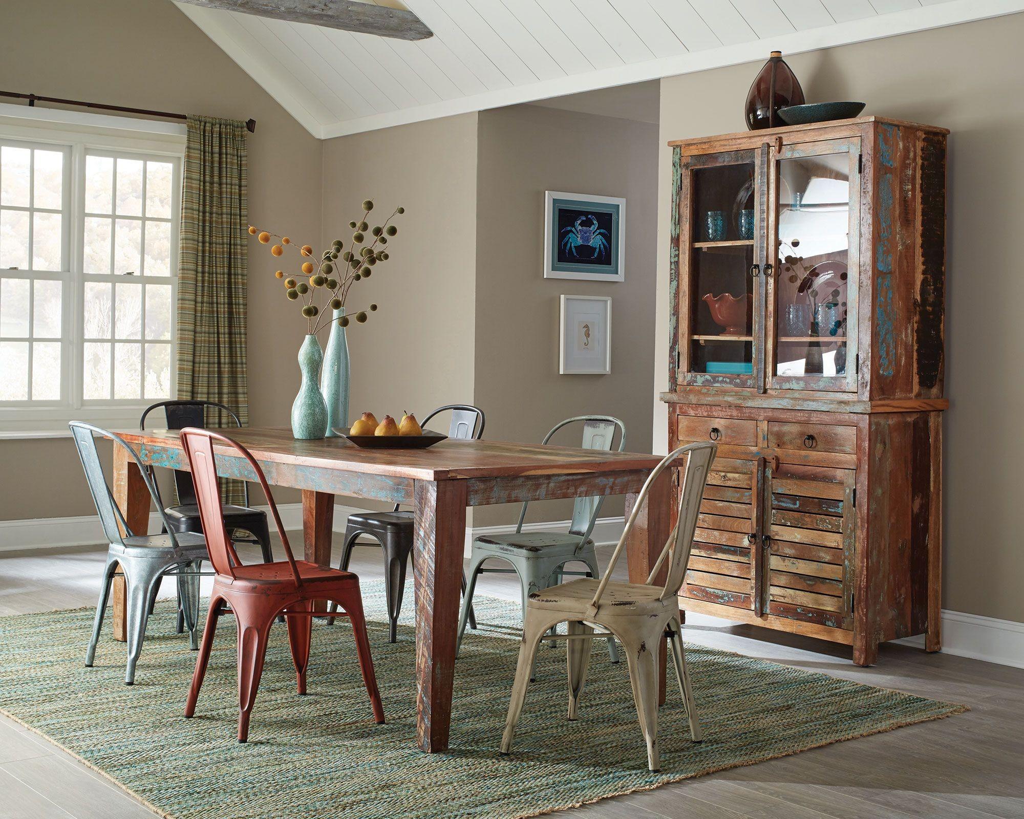 keller multi color dining room set 180161 coaster furniture