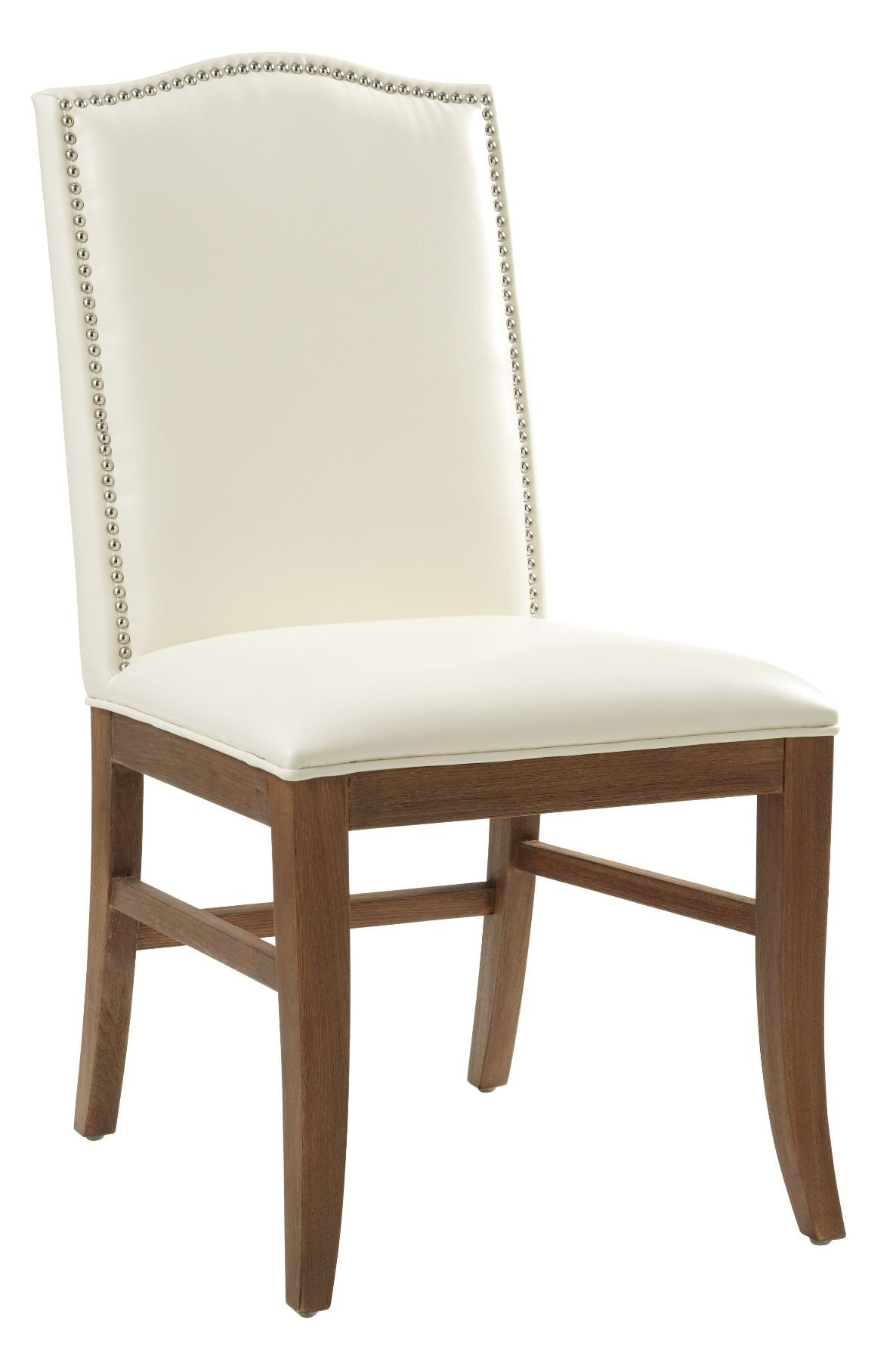 Maison Ivory Leather Dining Chair Set of 2, 18606RL, Sunpan