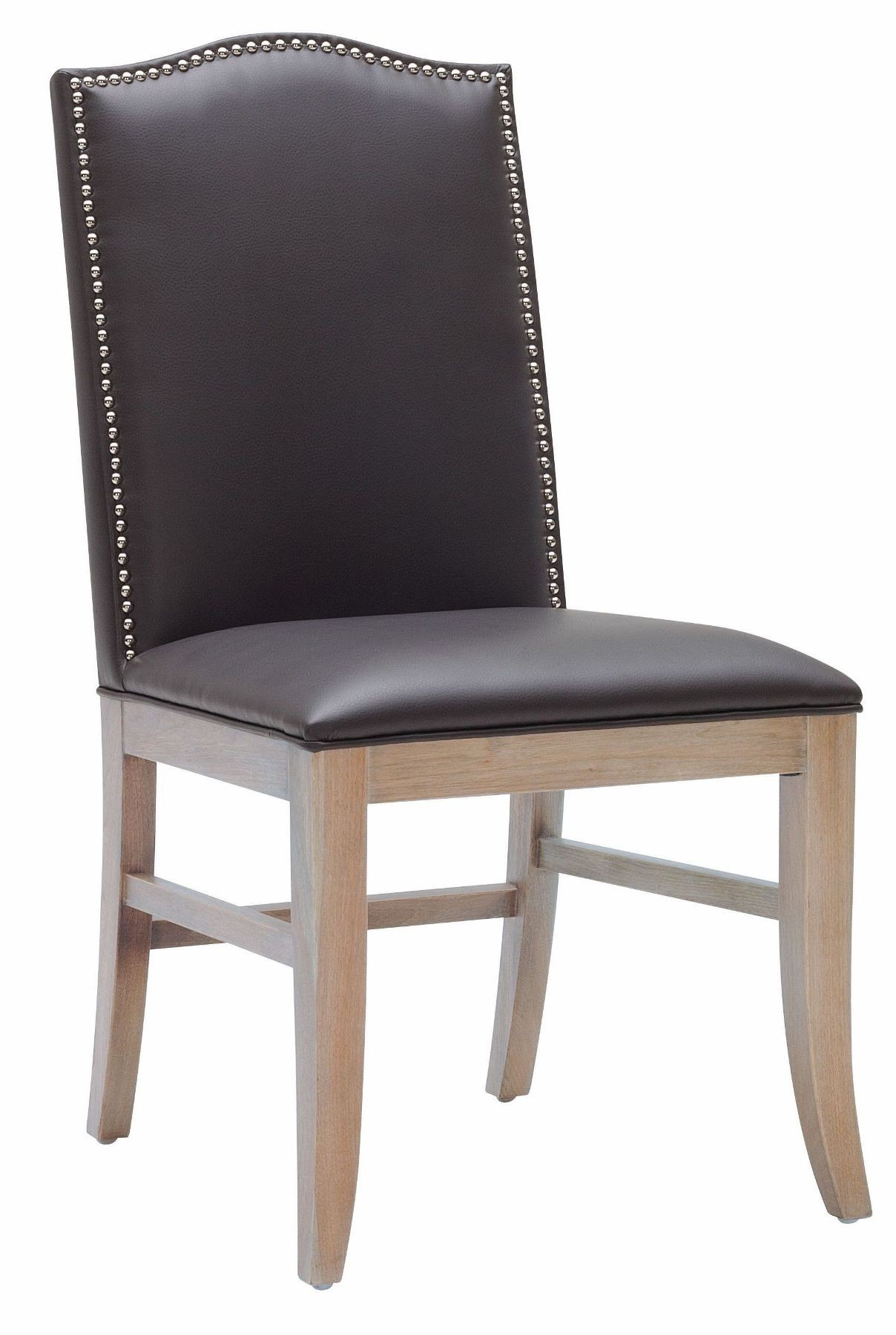 Maison Gray Leather Dining Chair Set of 2 from Sunpan