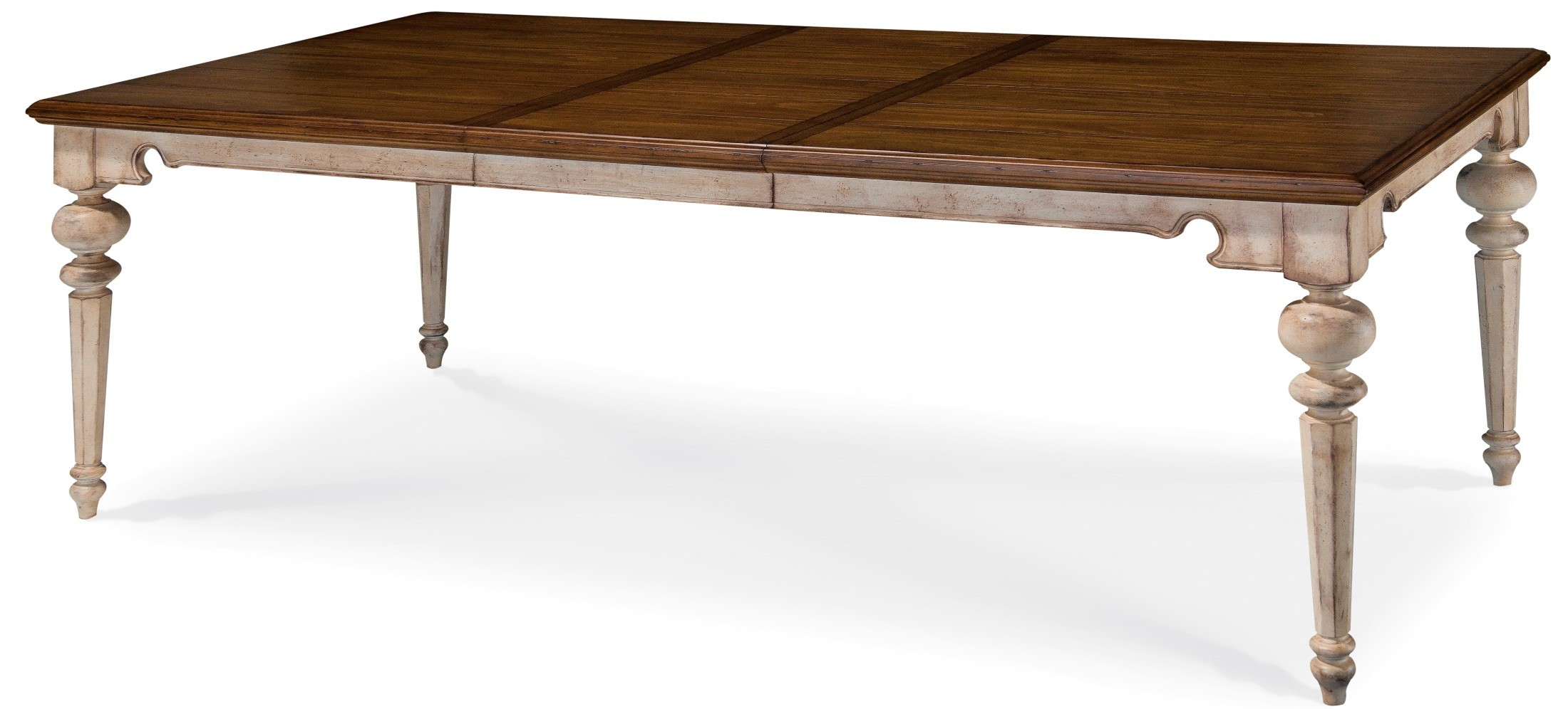 Belmar antique linen rectangular extendable dining table from art 189220 2617 coleman furniture - Rectangular dining table for 6 ...