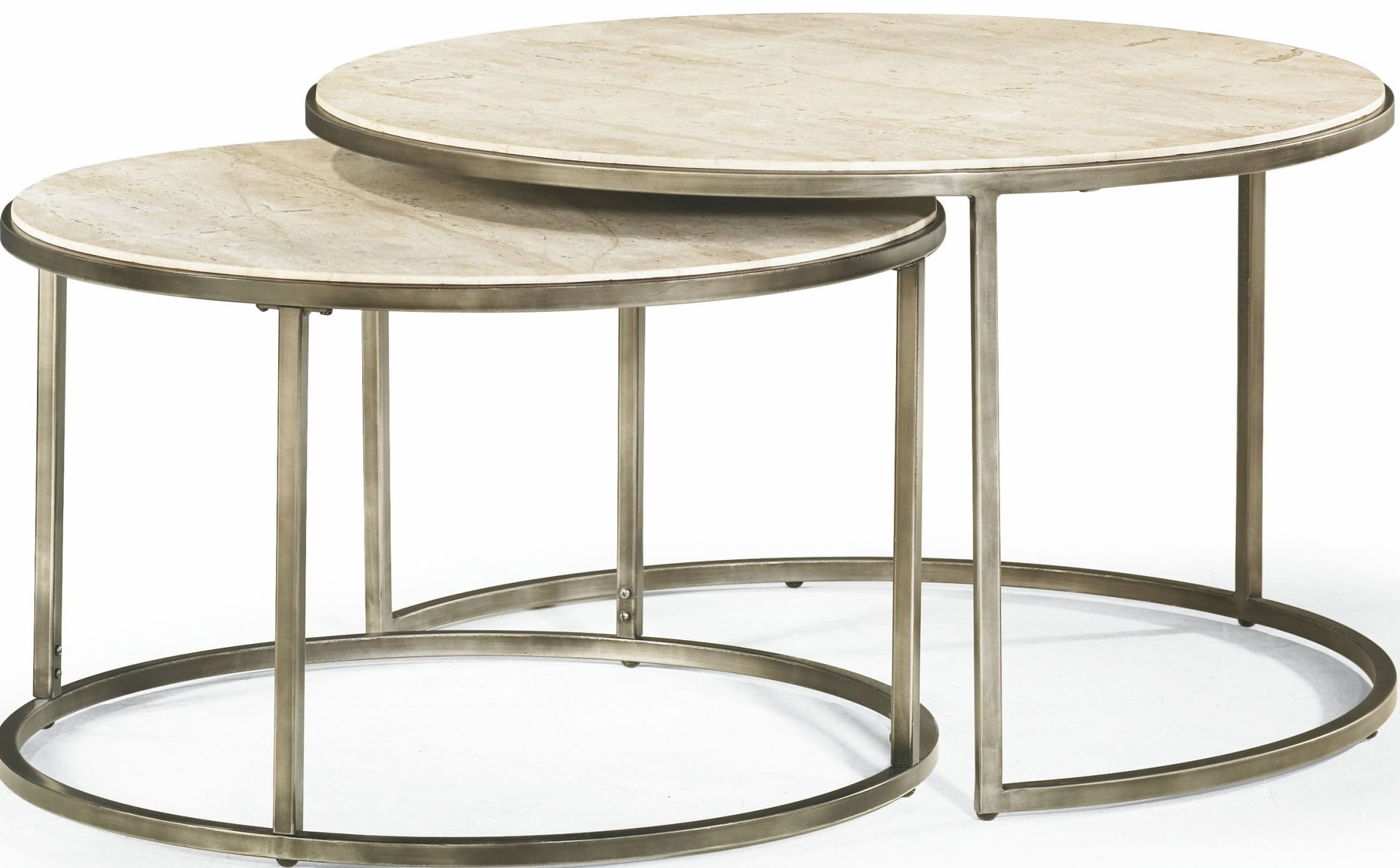 Modern basics round occasional table set from hammary
