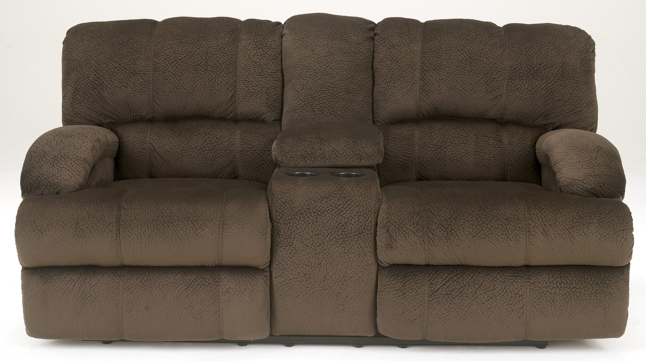 Kiska Chocolate Double Power Reclining Loveseat With Console 1910296 Signature Design By Ashley