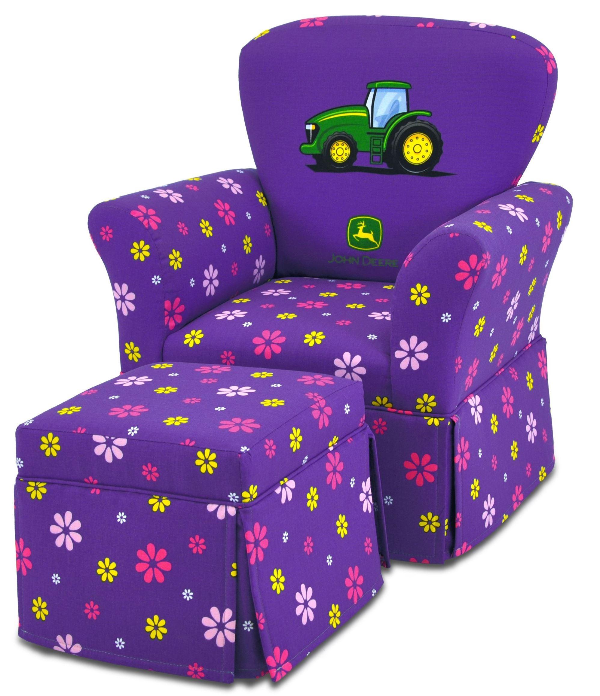 John Deere Ottoman : John deere purple girl s skirted rocker and