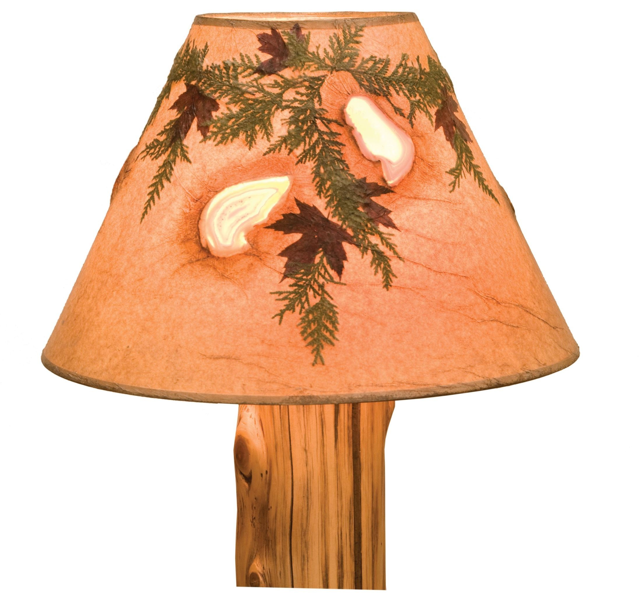 agates and foliage extra large lamp shade from fireside lodge 19247. Black Bedroom Furniture Sets. Home Design Ideas