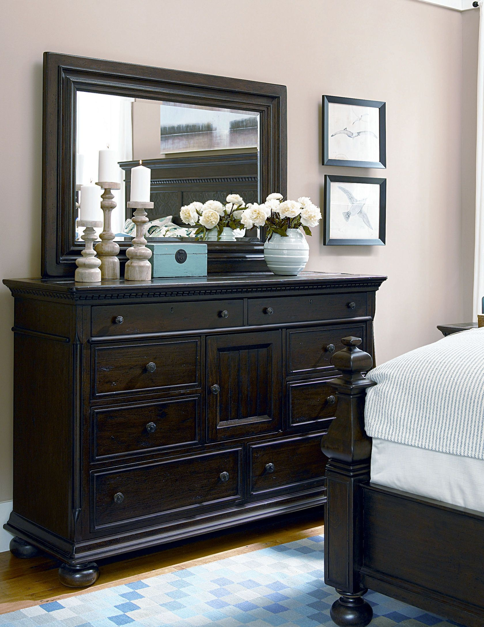 Down home molasses bedroom set from paula deen 193280b coleman furniture - Paula deen furniture for sale ...