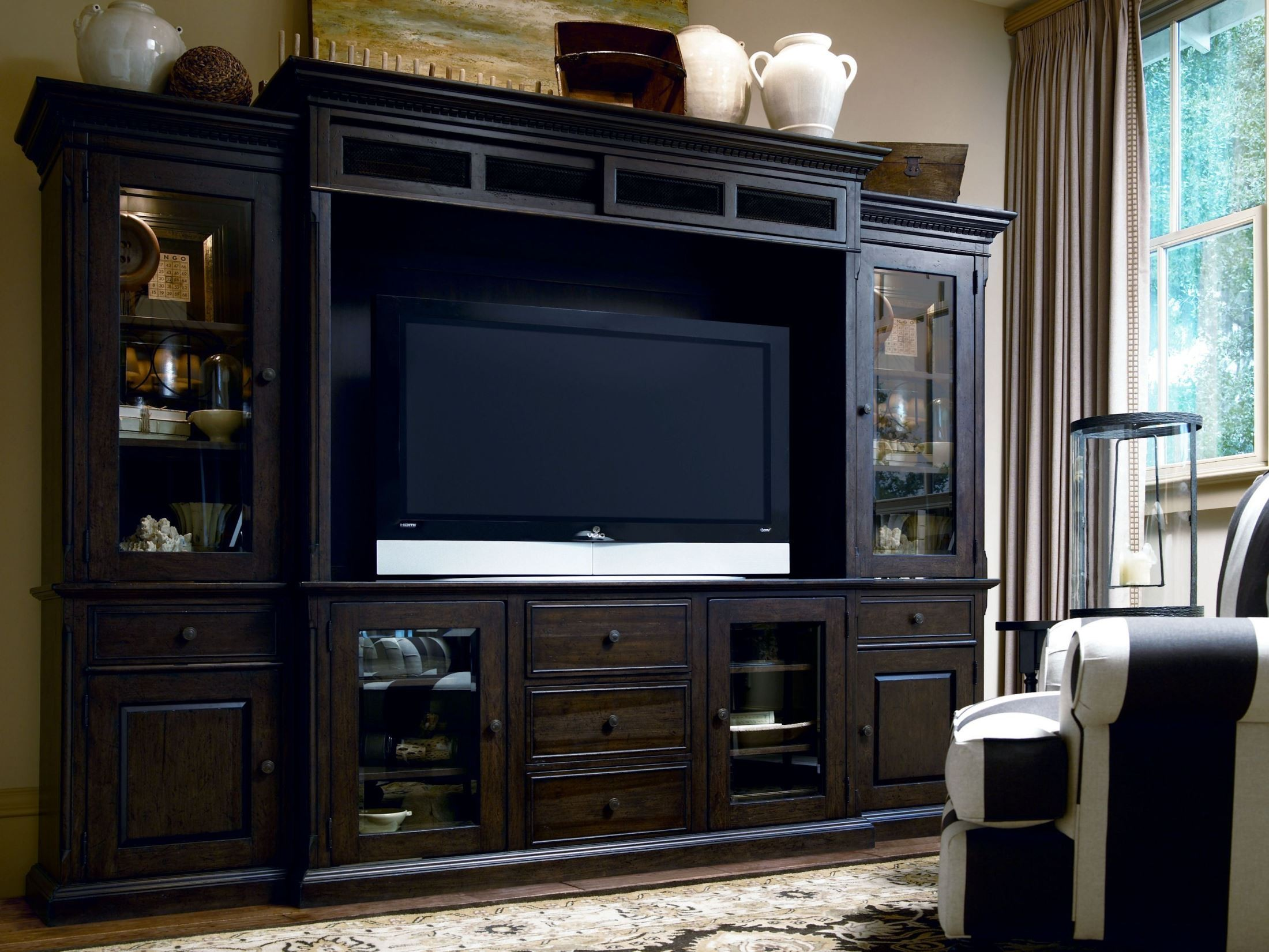 Down Home Molasses Entertainment Wall Unit From Paula Deen
