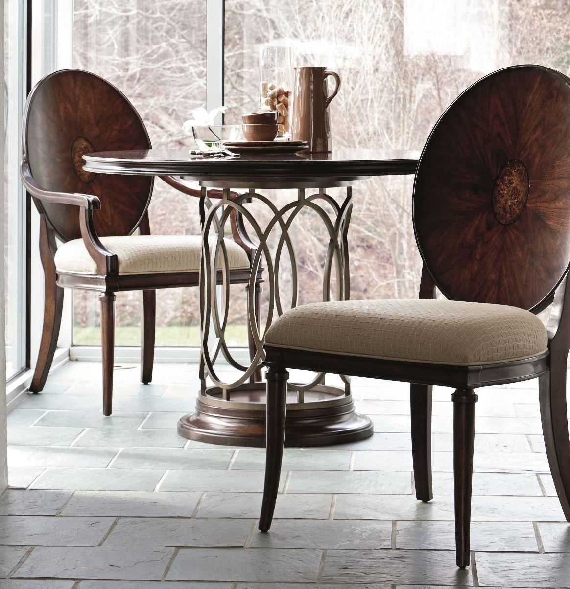 pedestal dining room set from stanley 193 11 30 coleman furniture