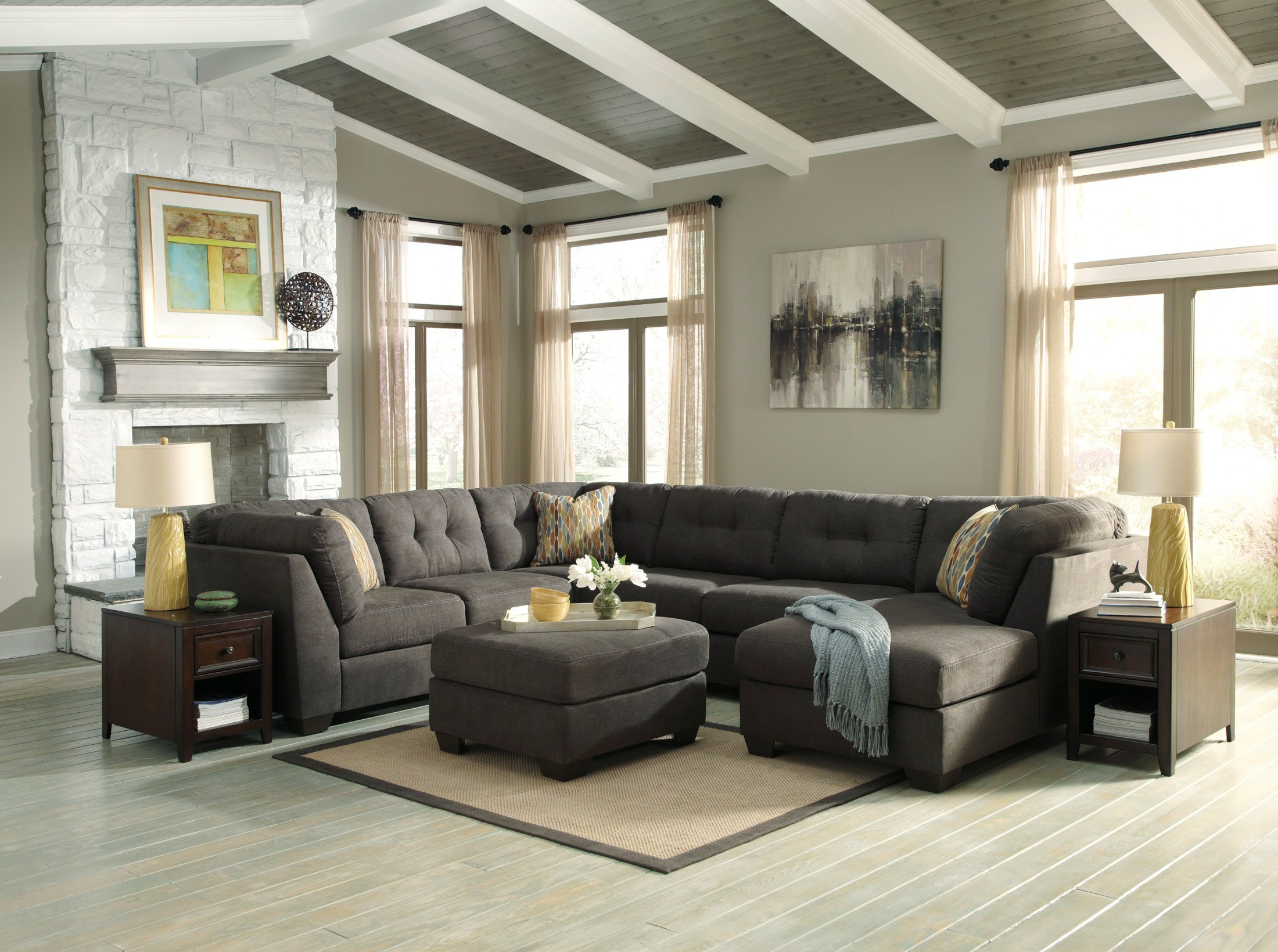 Delta City Steel Raf Sectional From Ashley 19700 38 34 17