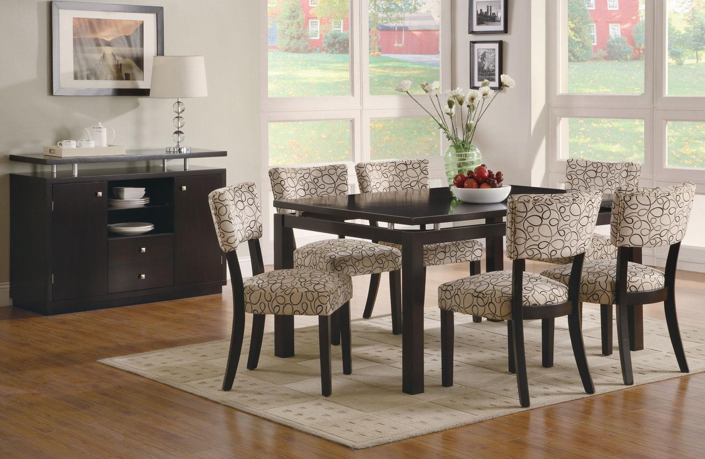 La Rana Furniture Bedroom Libby Rectangular Floating Top Dining Room Set From Coaster