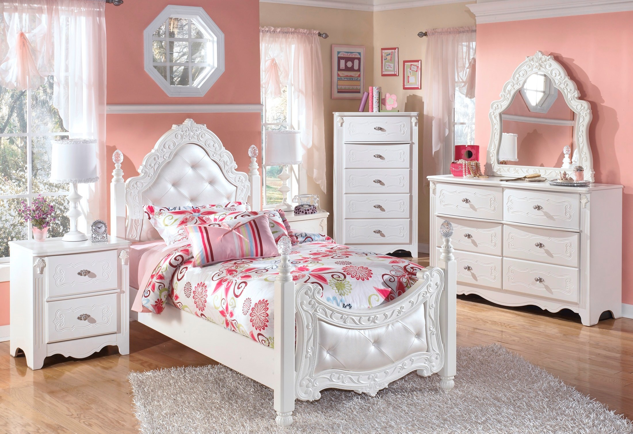 Exquisite trundle poster bedroom set from ashley coleman furniture for Bedroom furniture washington dc