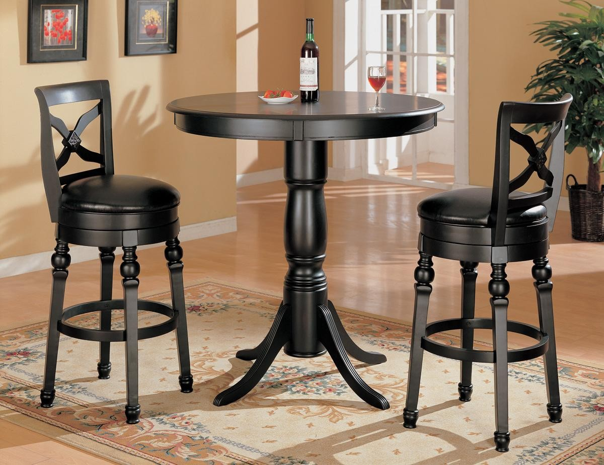 black finish bar counter height pub stool set 10027 from coaster