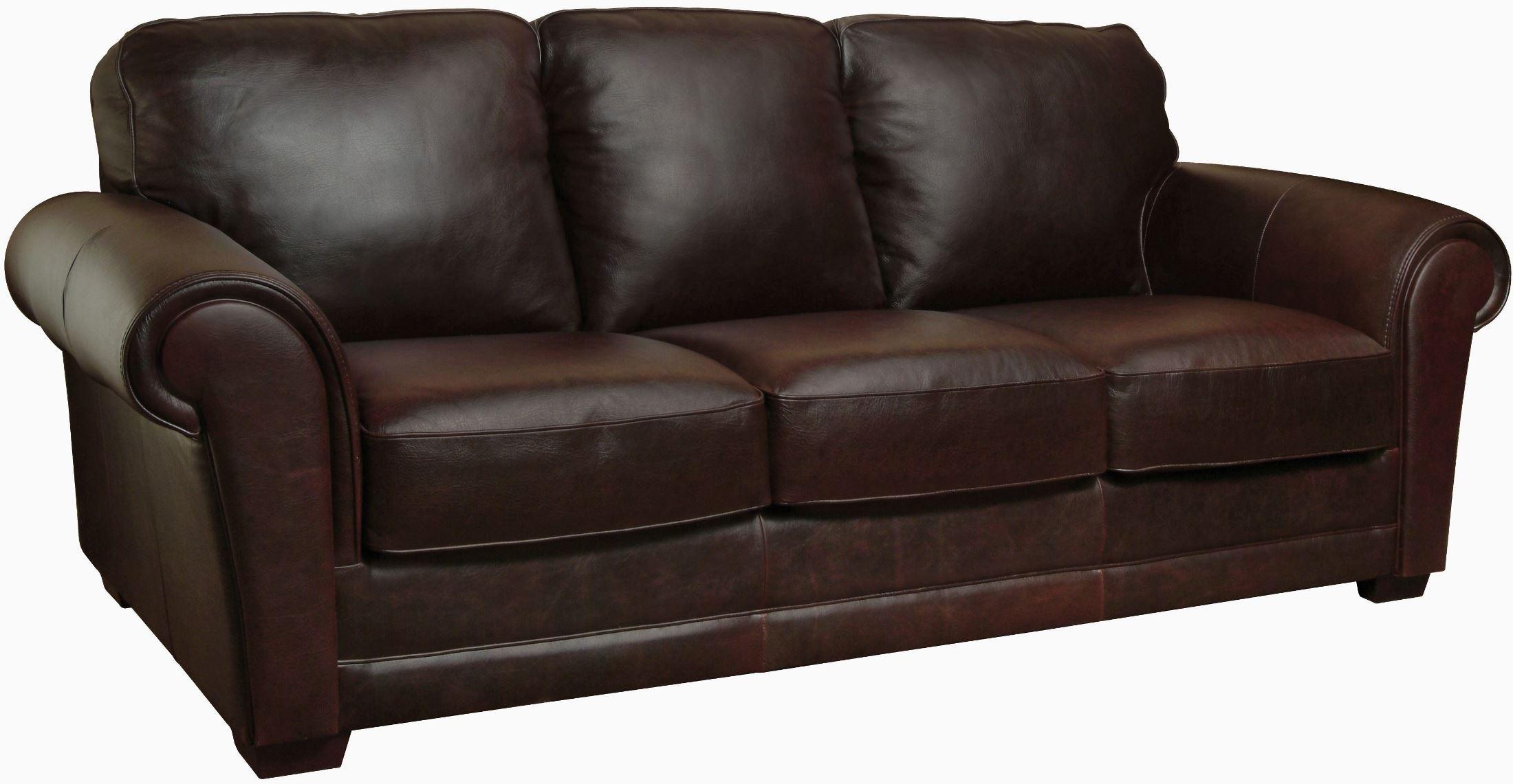 Mark whiskey finish italian leather sofa luk mark s for Italian leather sofa
