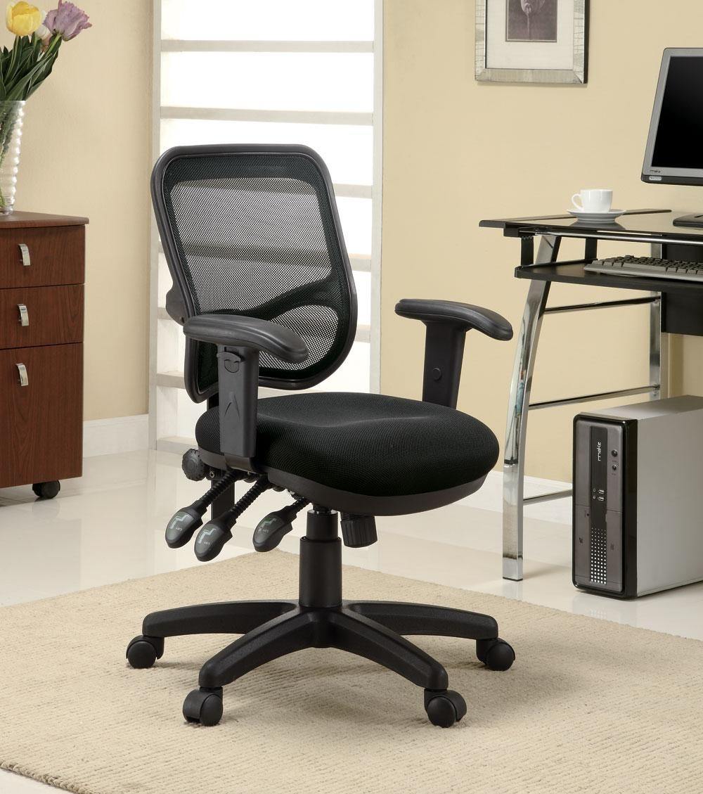 Home Office Chair With Black Mesh Back Coaster Furniture From Coaster 800019 Coleman Furniture