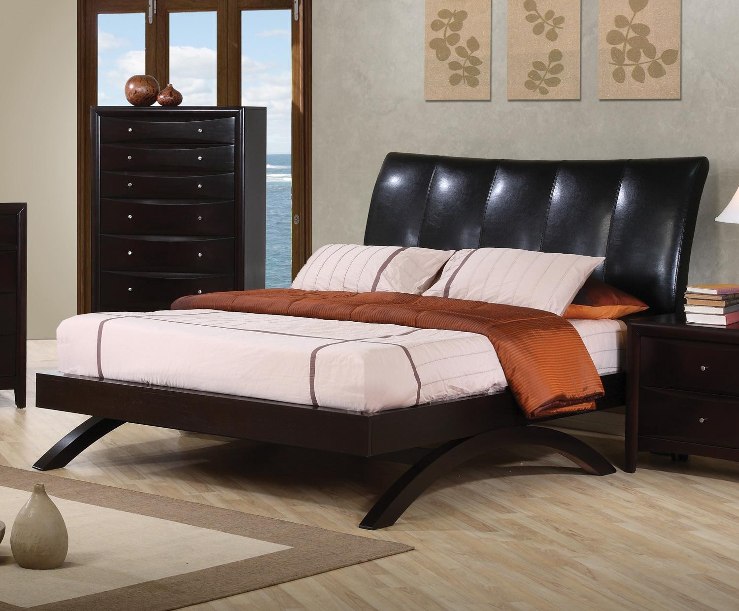 Phoenix Queen Upholstered Platform Bed 300356 From Coaster 300356 Colem