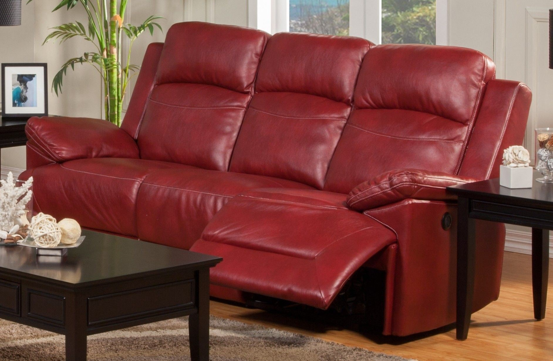 Cortez Red Dual Reclining Sofa From New Classics 20 244