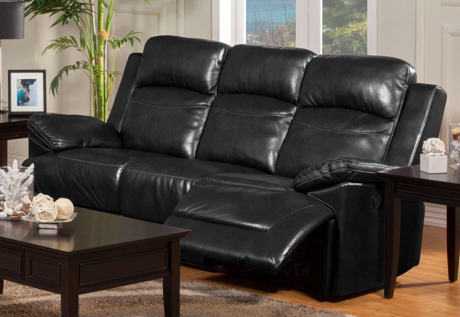 Cortez Black Dual Reclining Sofa From New Classics 20 244