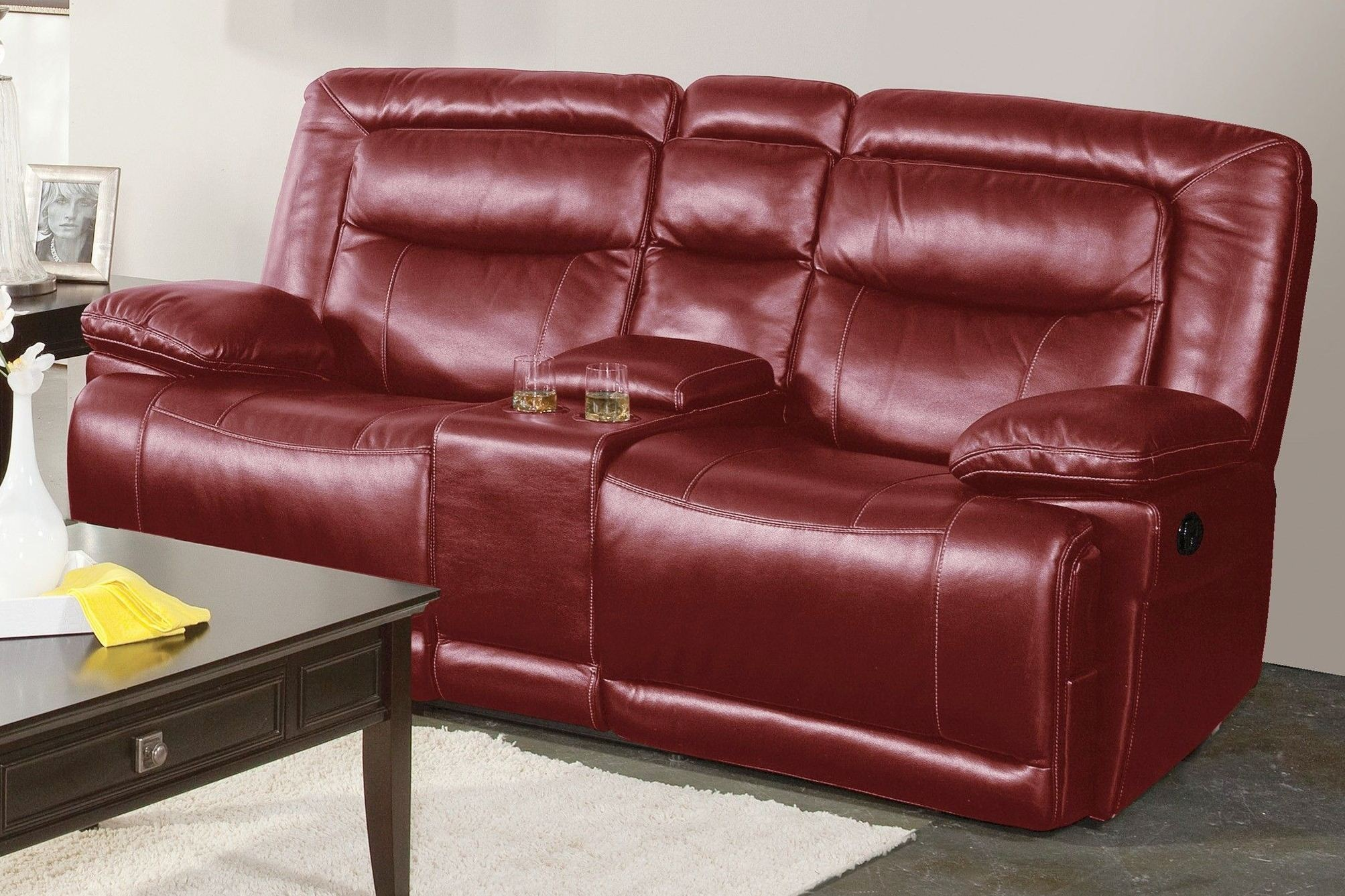 Torino Red Dual Reclining Loveseat With Console 20 246 25 Prd New Classics