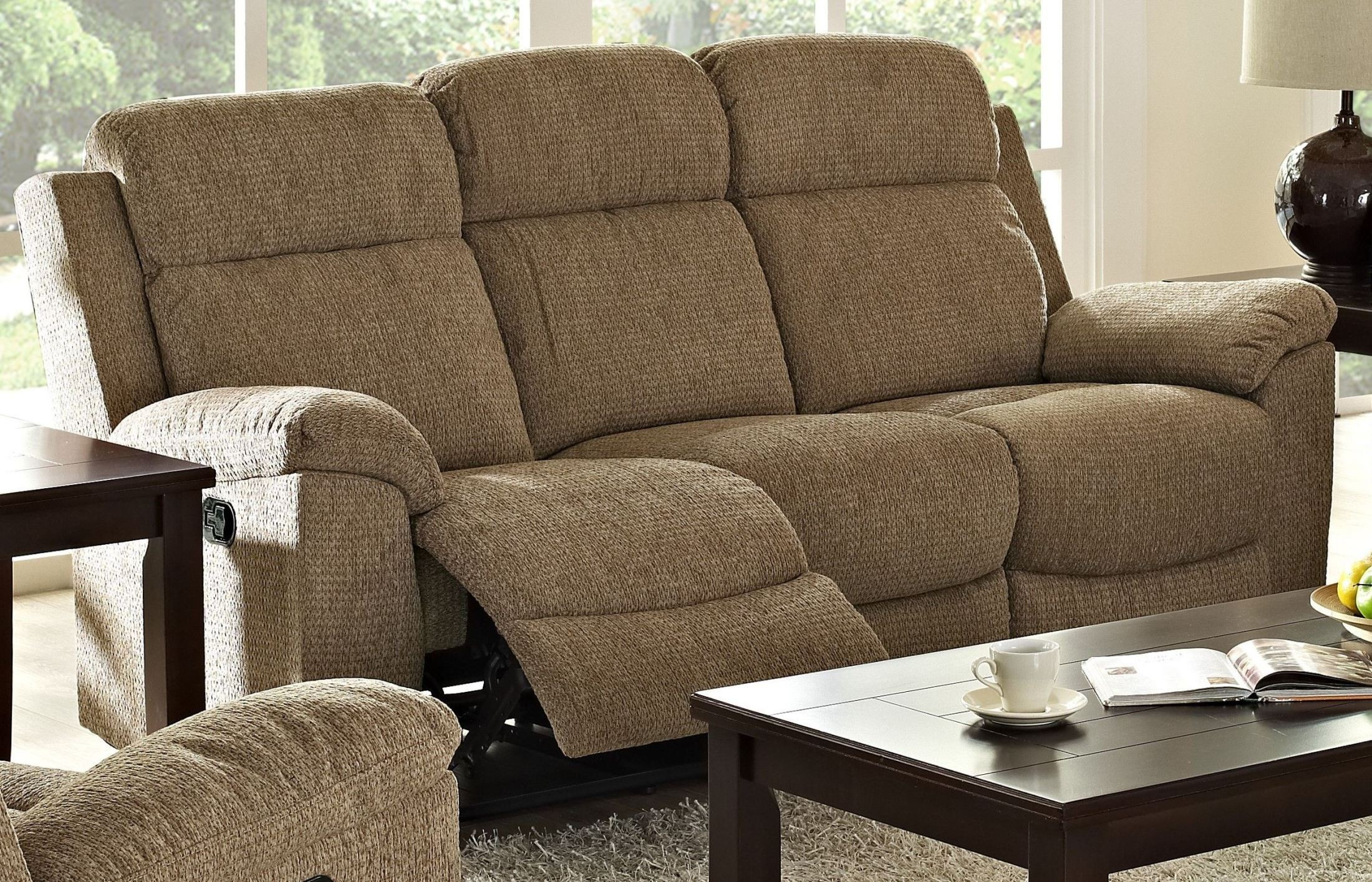 Rachel Taupe Dual Reclining Sofa from New Classics 20 292