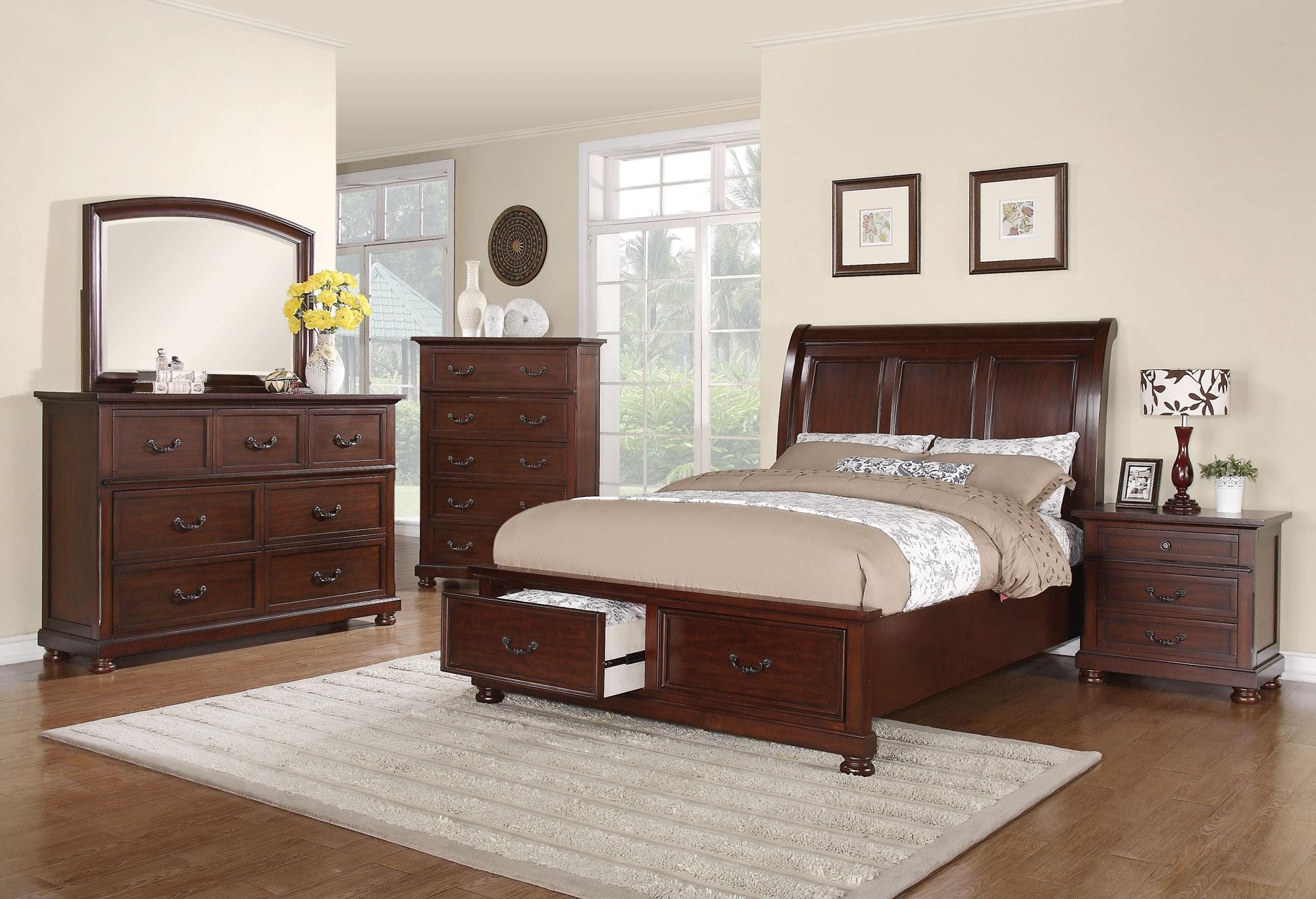 Hannah Cal King Sleigh Storage Bed From Coaster 200831kw Coleman Furniture