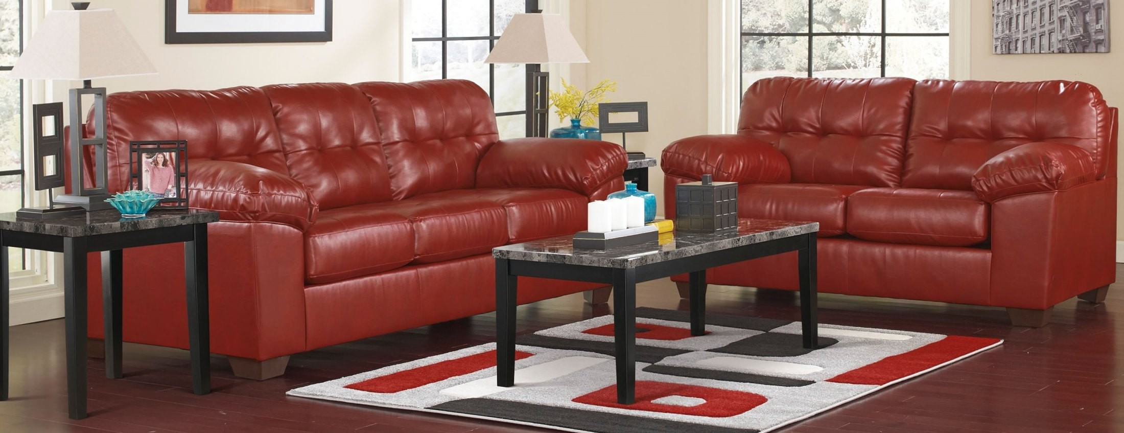 Alliston durablend salsa living room set from ashley for 14th avenue salon albany oregon