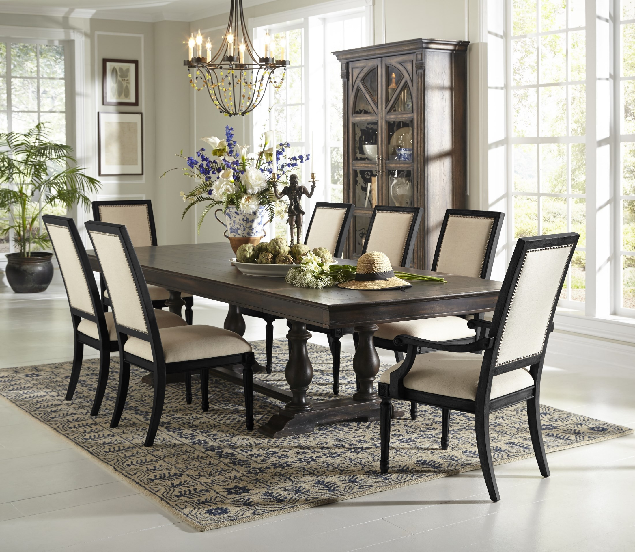Accentrics montserrat extendable dining room set from pulaski 201015 16 coleman furniture - Pulaski dining room ...