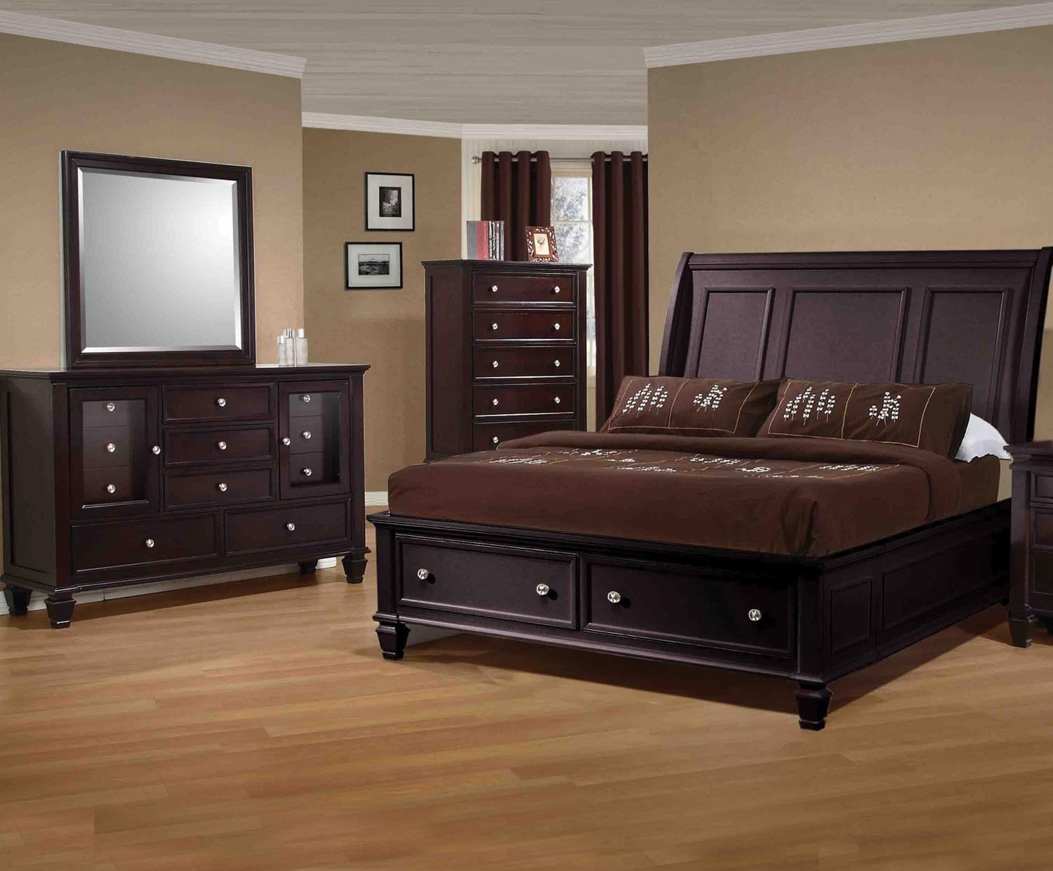 Sandy Beach Cappuccino Sleigh Bedroom Set From Coaster 201990 Coleman Furniture