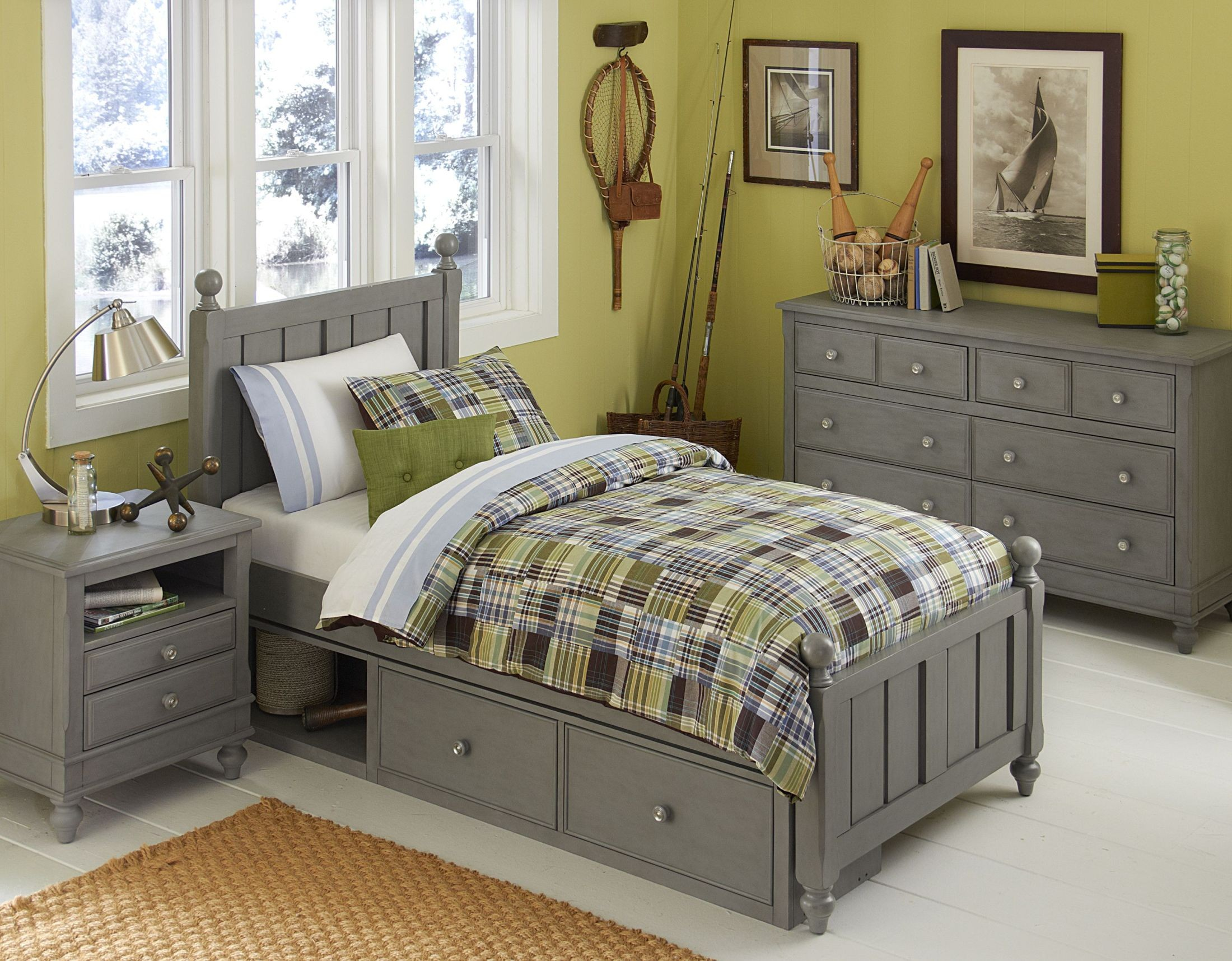 Lake house stone kennedy youth panel bedroom set with two storage units 2020n2s ne kids Lake home bedroom furniture
