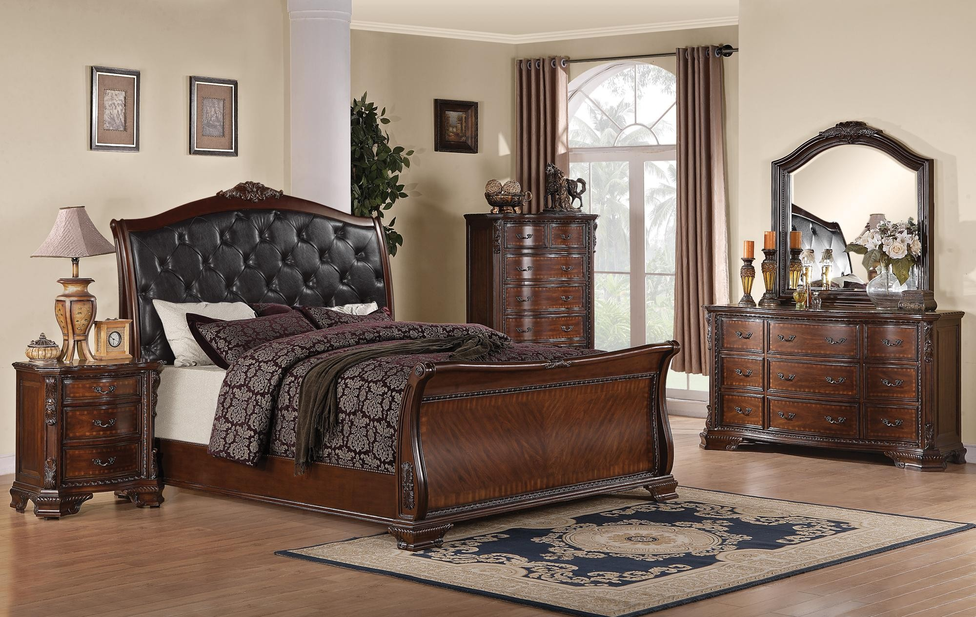 Maddison Sleigh Upholstered Bedroom Set From Coaster 202261 Coleman Furniture