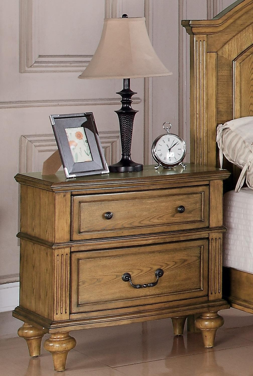 light oak nightstand