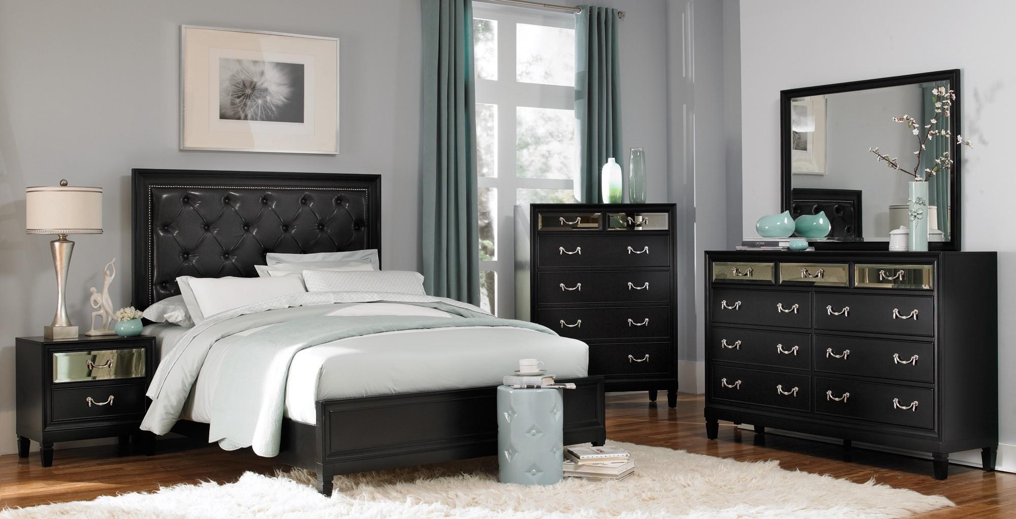 Devine Black Bedroom Set From Coaster 203121q Coleman Furniture