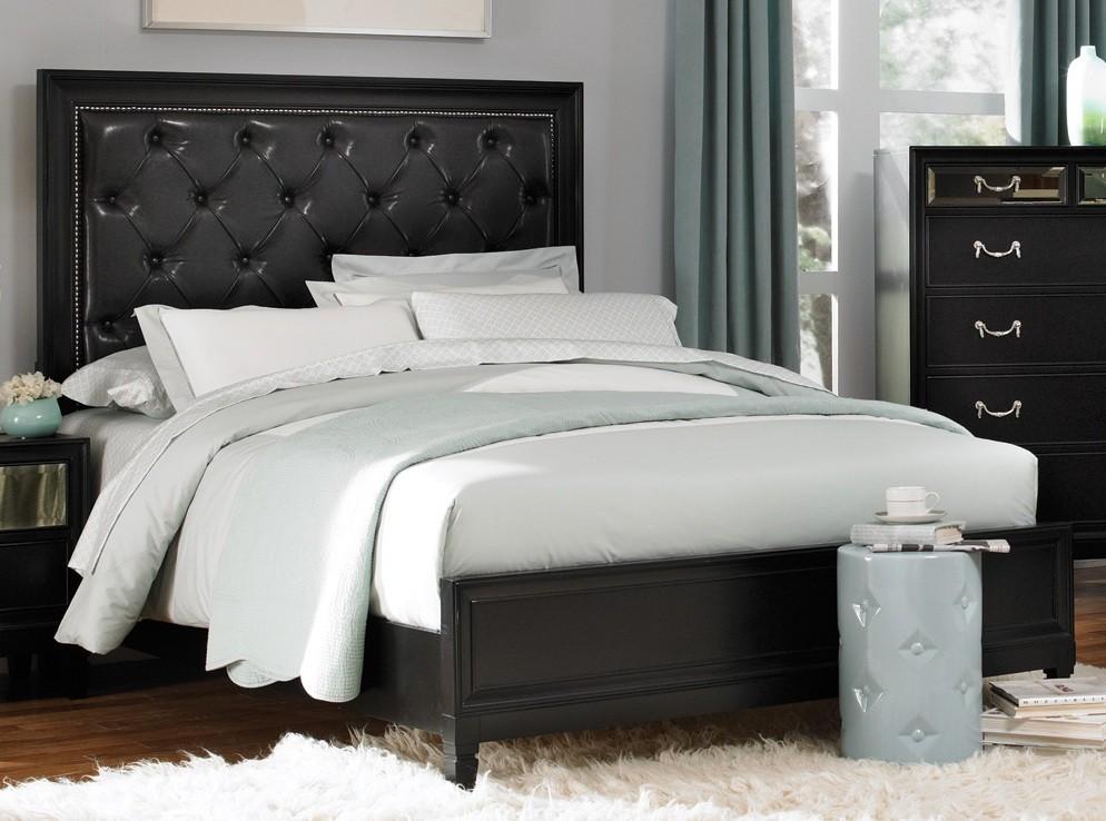 devine black cal king size bed from coaster 203121kw coleman furniture. Black Bedroom Furniture Sets. Home Design Ideas