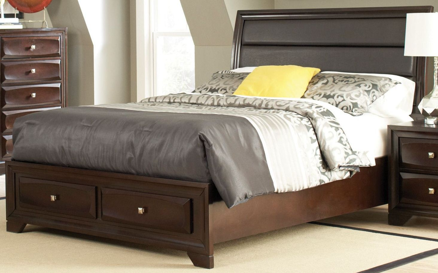 jaxson cal king storage platform bed from coaster 203481kw coleman furniture. Black Bedroom Furniture Sets. Home Design Ideas