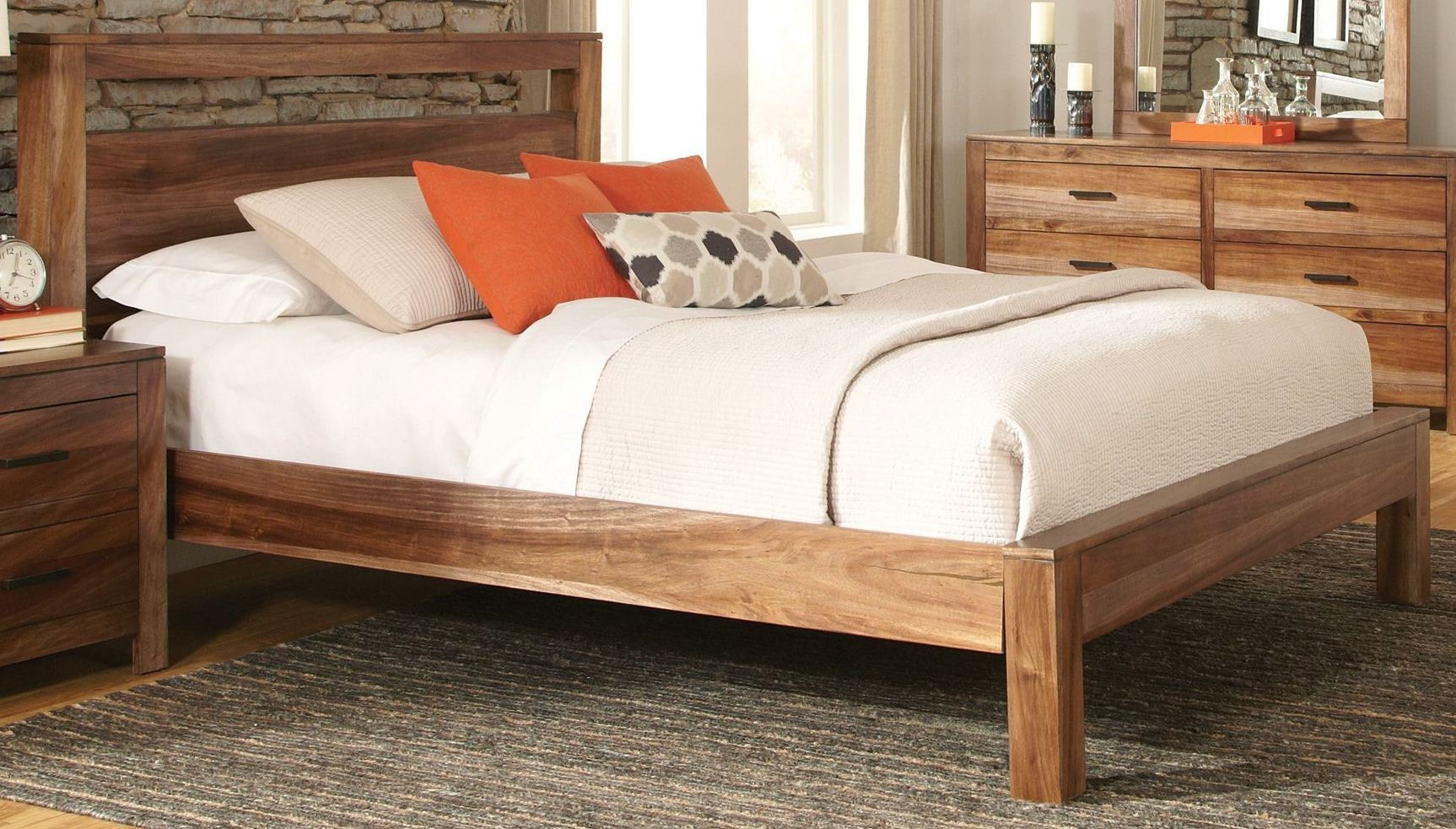 Peyton Queen Platform Bed from Coaster (203651Q) | Coleman ...