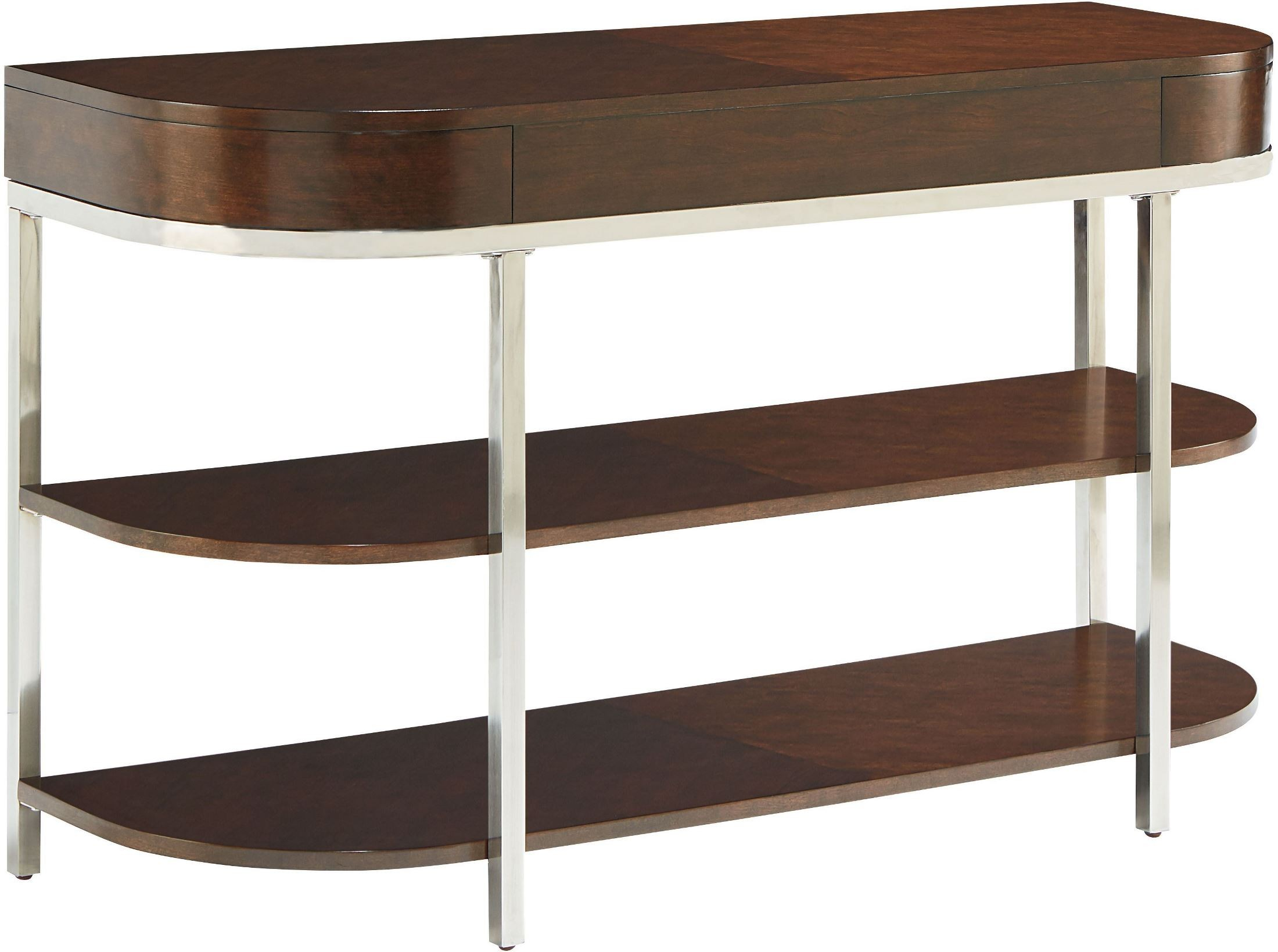 Mira deep lustrous tobacco brown console table 20426 for 10 deep sofa table