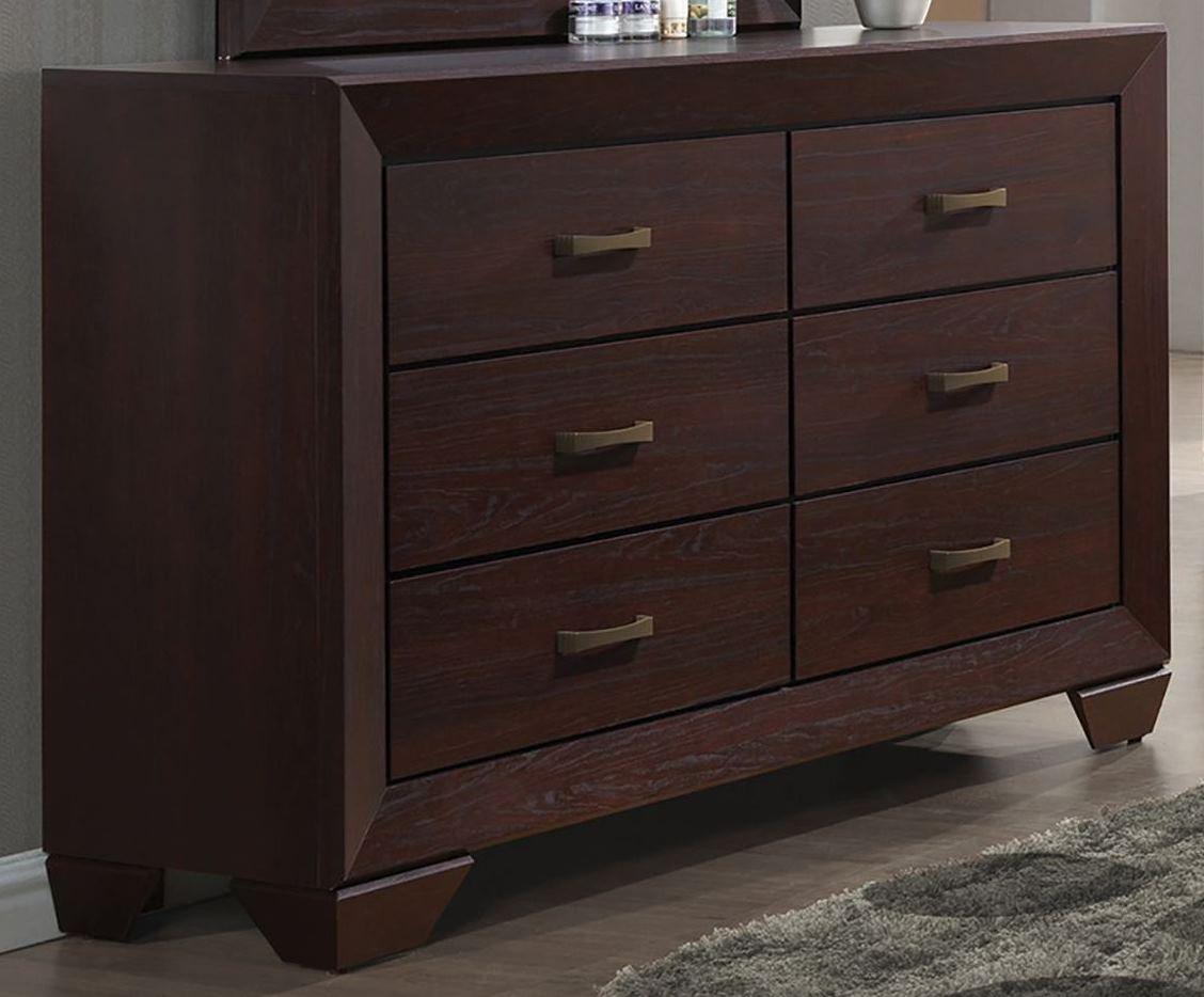 Fenbrook Dark Cocoa Panel Bedroom Set 204390q Coaster Furniture