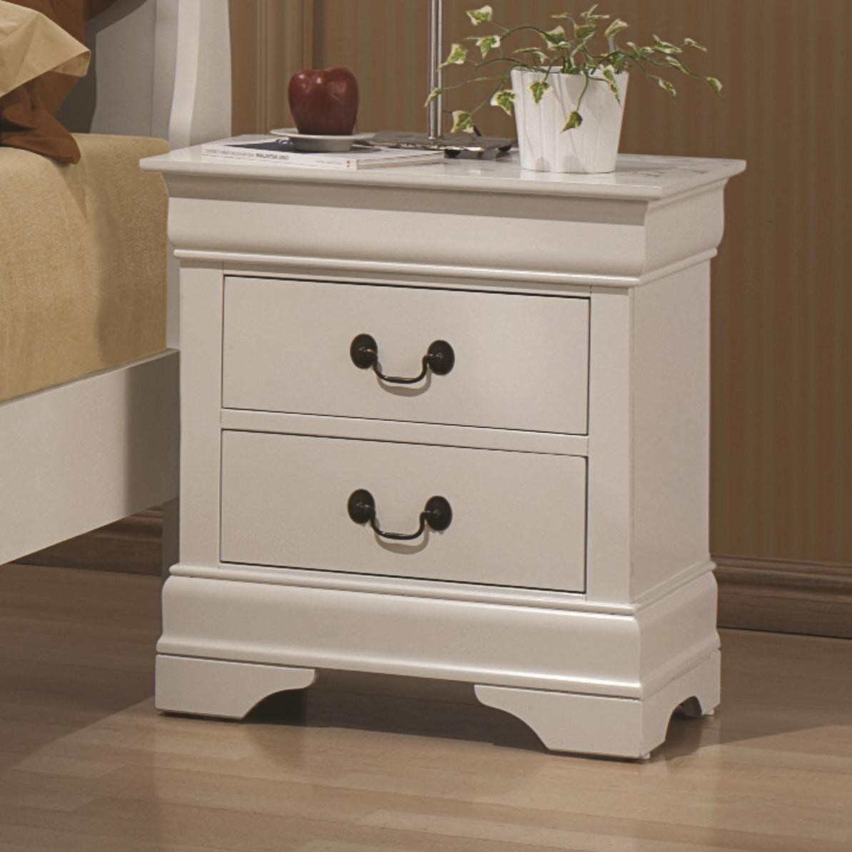 Louis Philippe White Sleigh Bedroom Set From Coaster 204691Q Coleman Furn