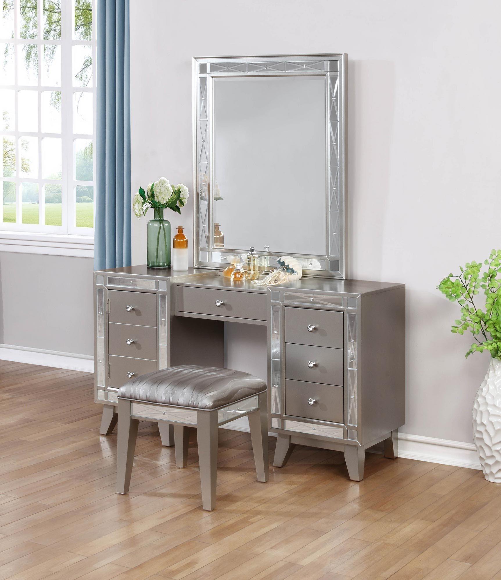 leighton metallic mercury twin panel bed 204921t coaster