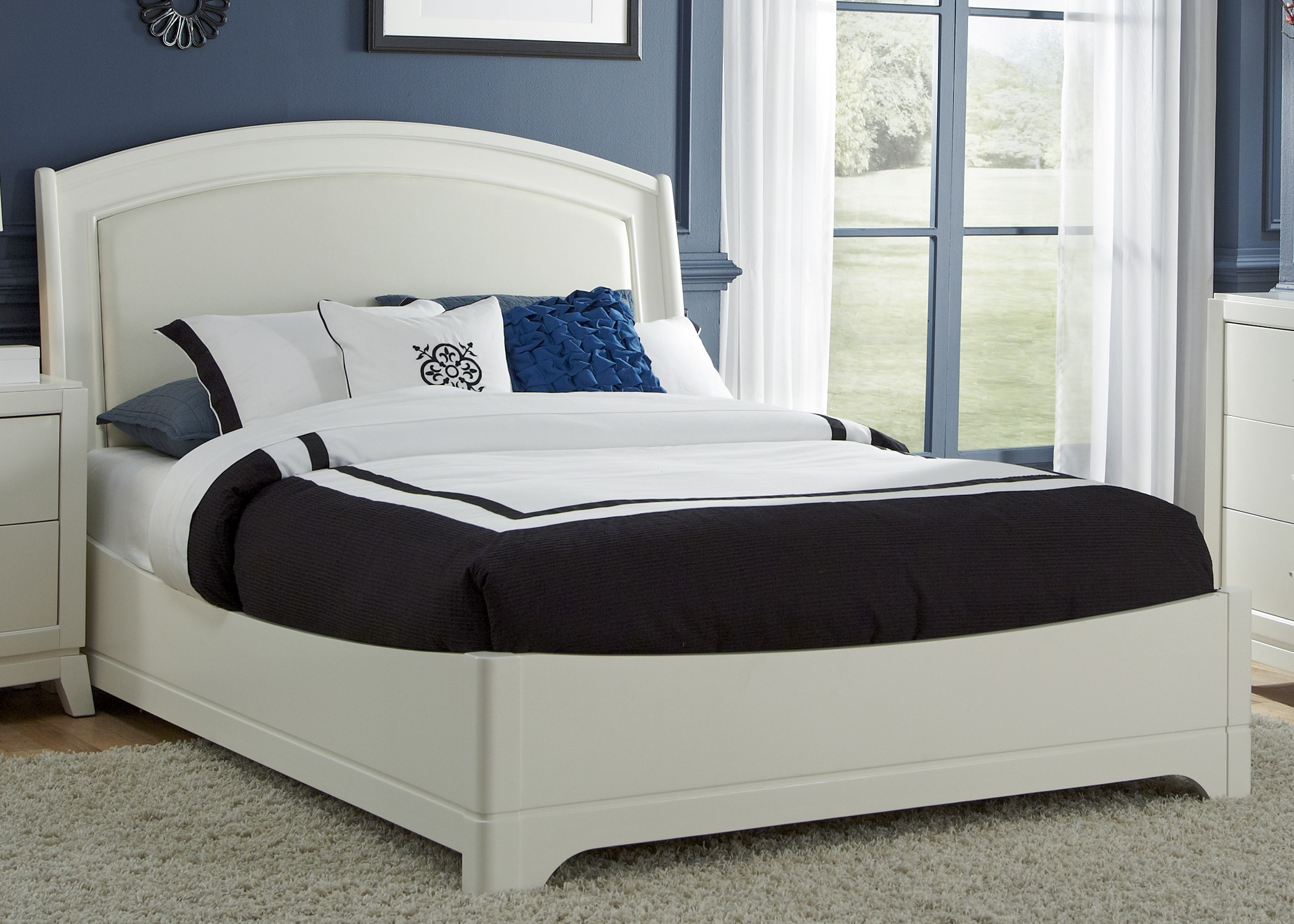 avalon leather bedroom set from liberty coleman furniture