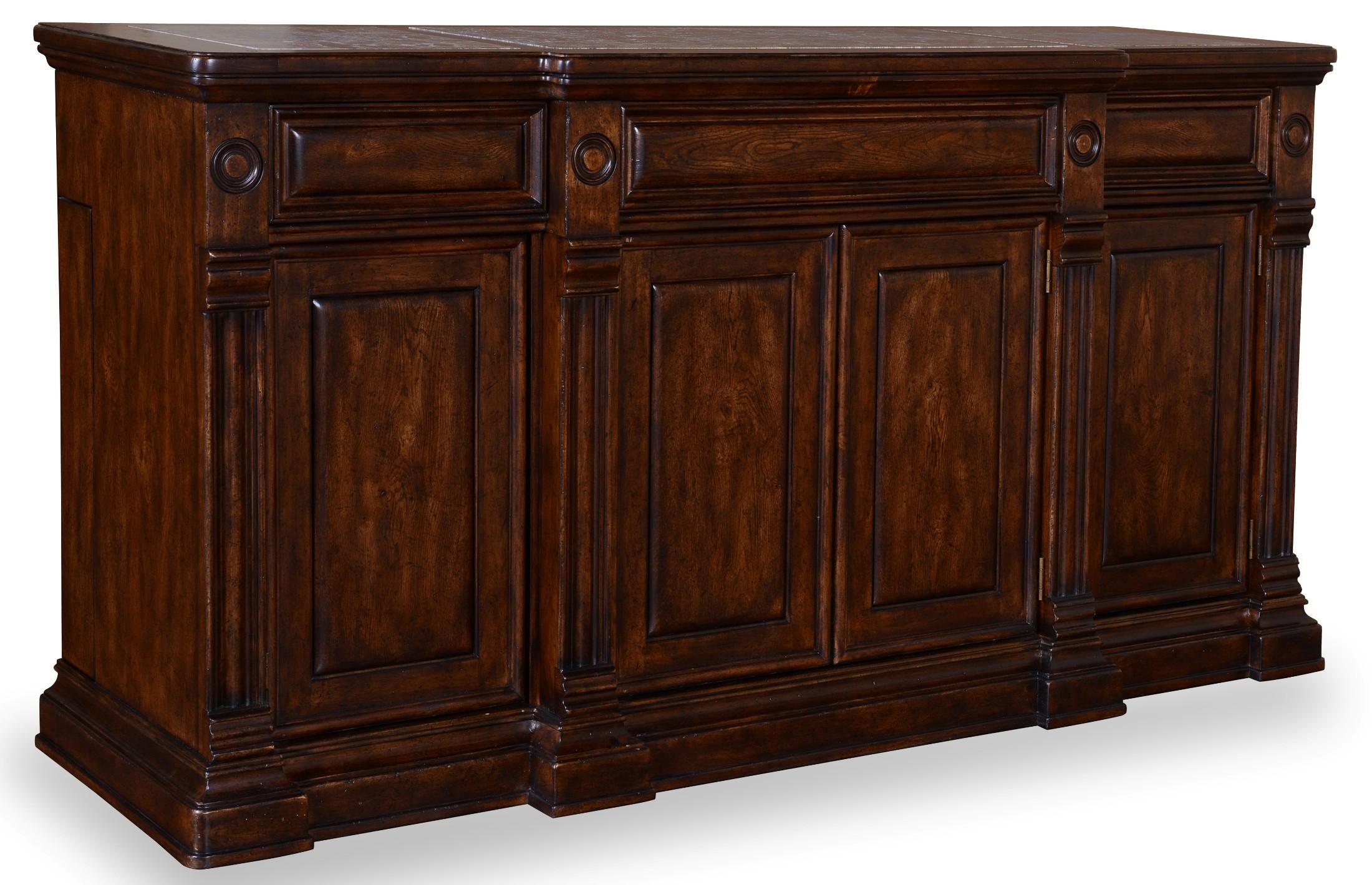 Whiskey Barrel Oak Buffet From Art 205251 2304 Coleman Furniture