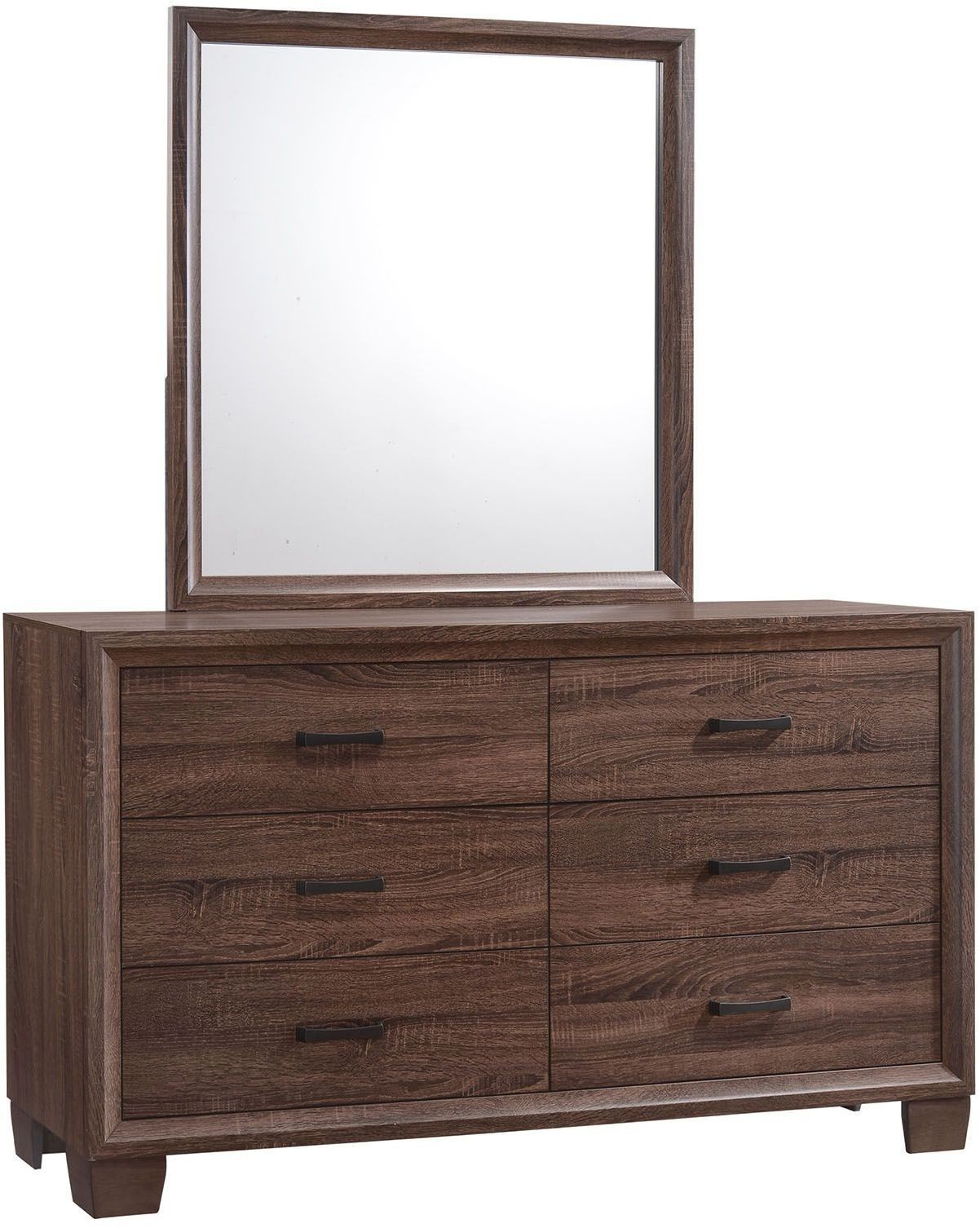 Brandon brown dresser 205323 coaster furniture for Affordable furniture brandon