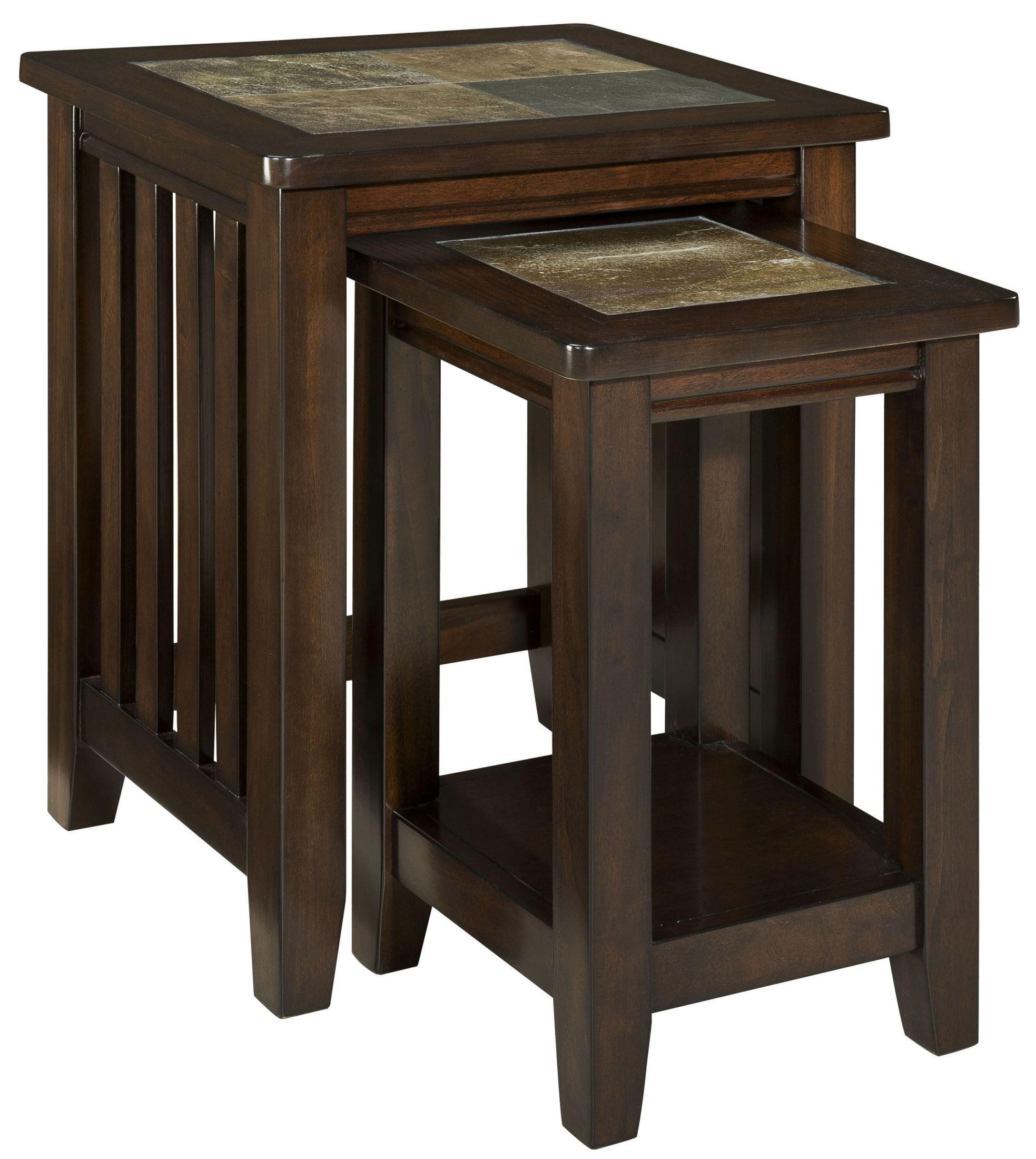 Napa valley brown oak nesting table standard