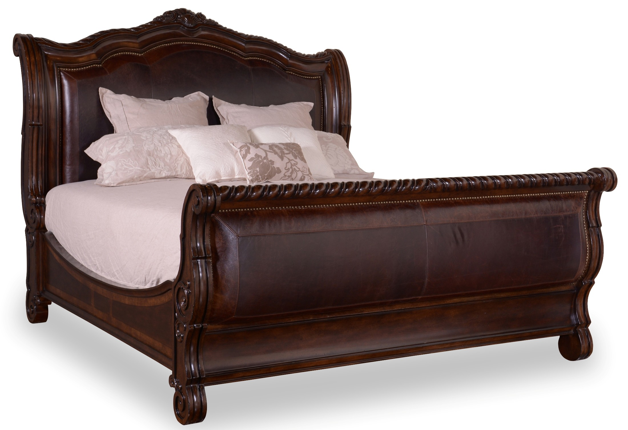 Valencia Queen Upholstered Sleigh Bed From Art 209145