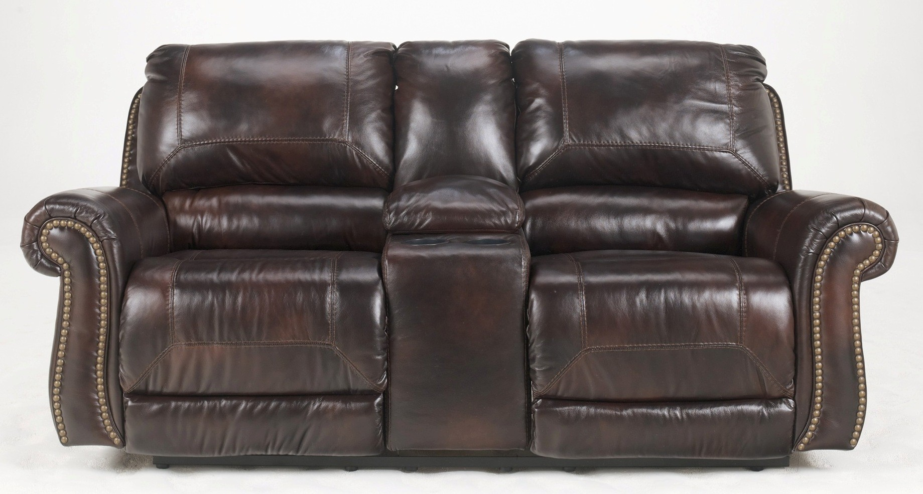 Dexpen Saddle Double Power Reclining Loveseat With Console 2100096 Ashley Furniture